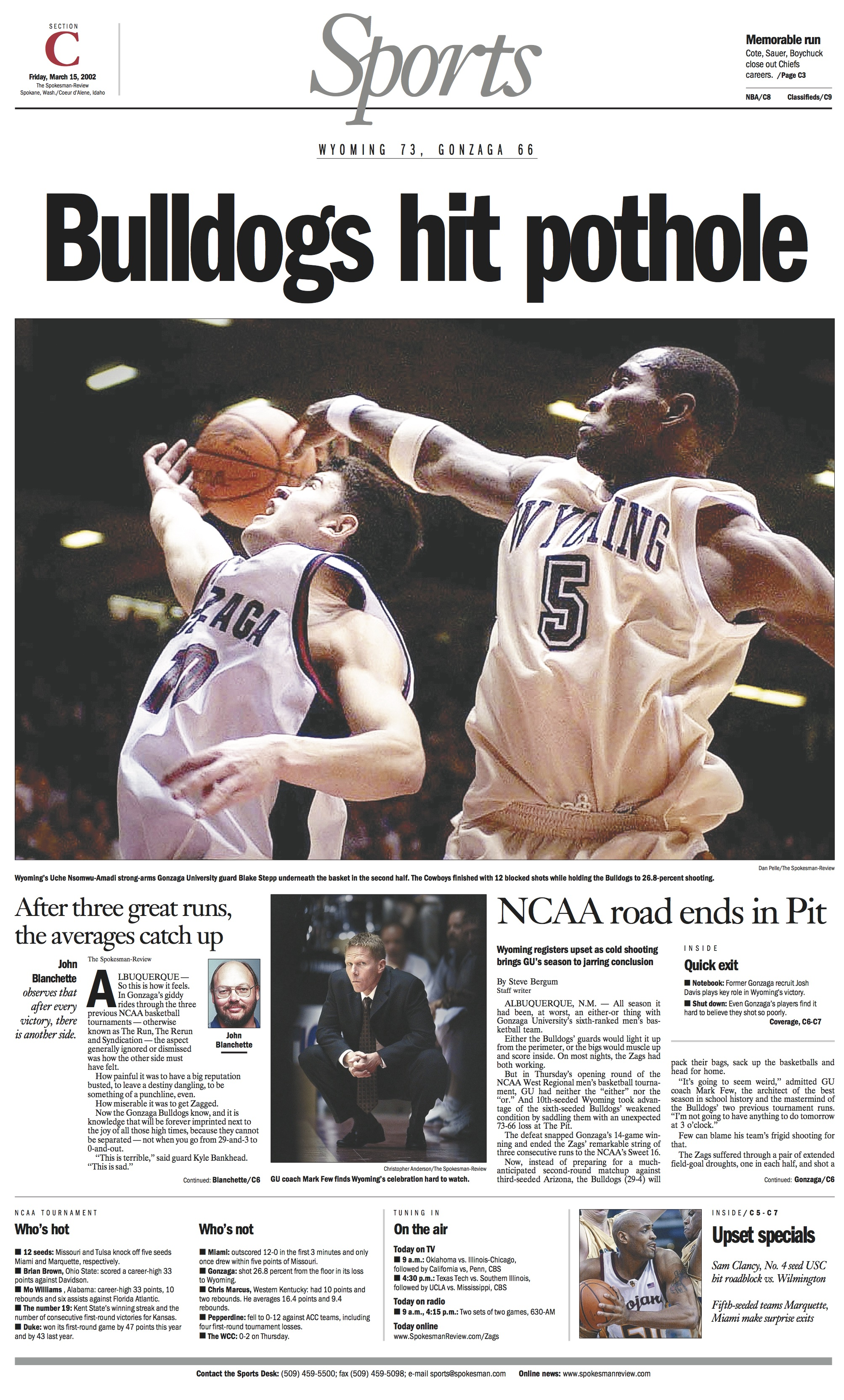 Historic page: March 15, 2002