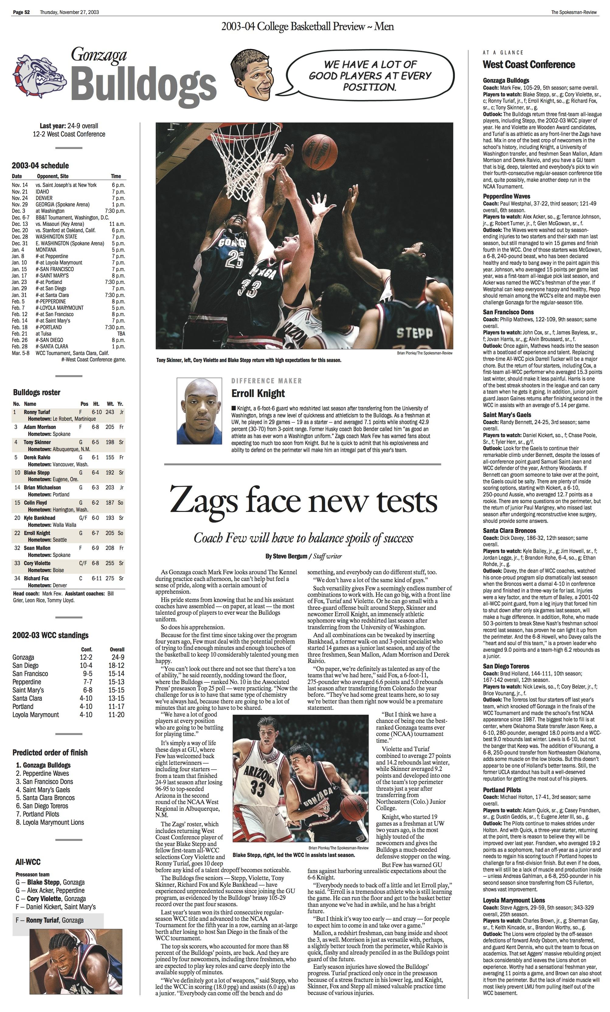 Historic page: Nov. 27, 2003