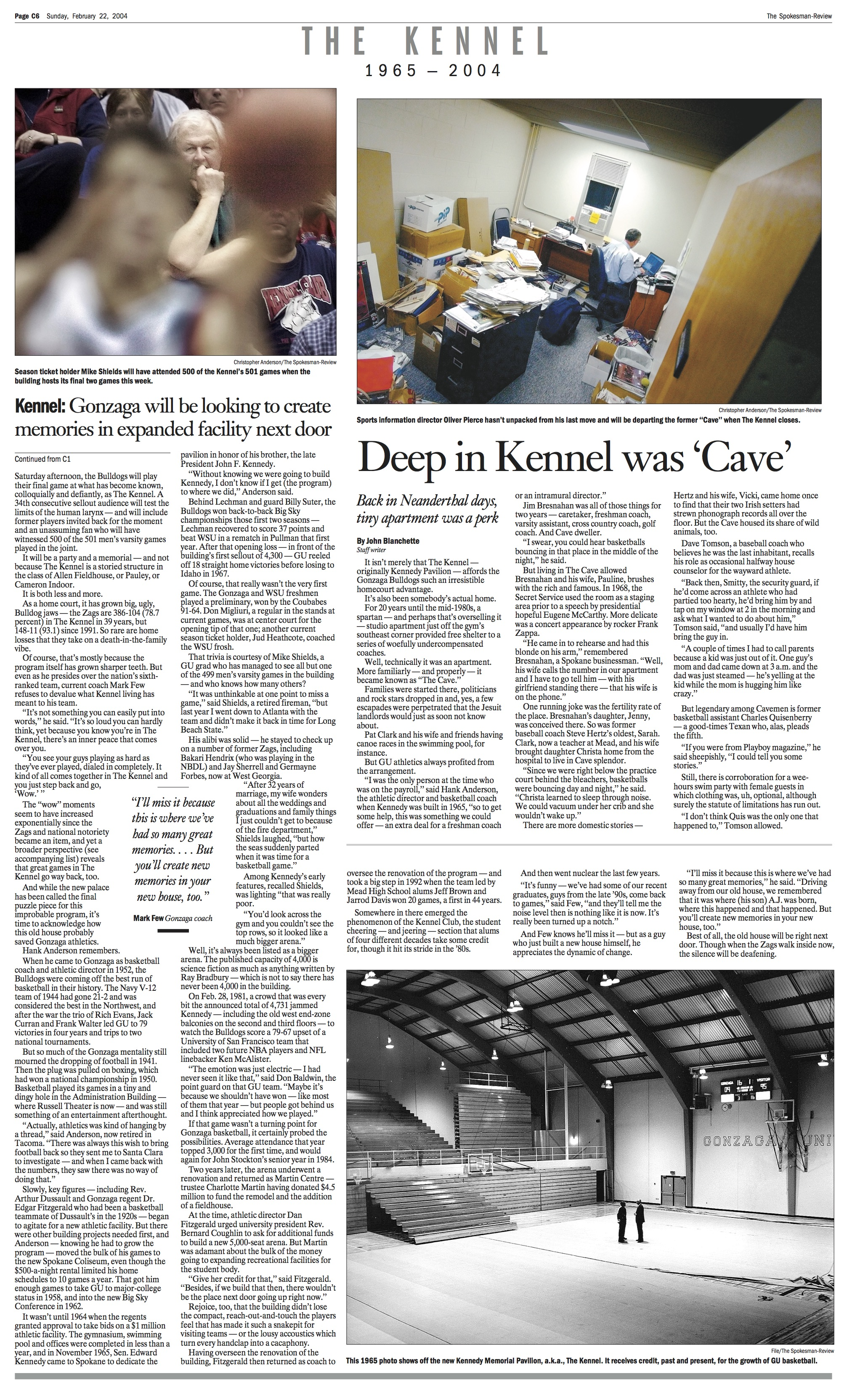 Historic page: Feb. 2, 2004, Kennel farewell