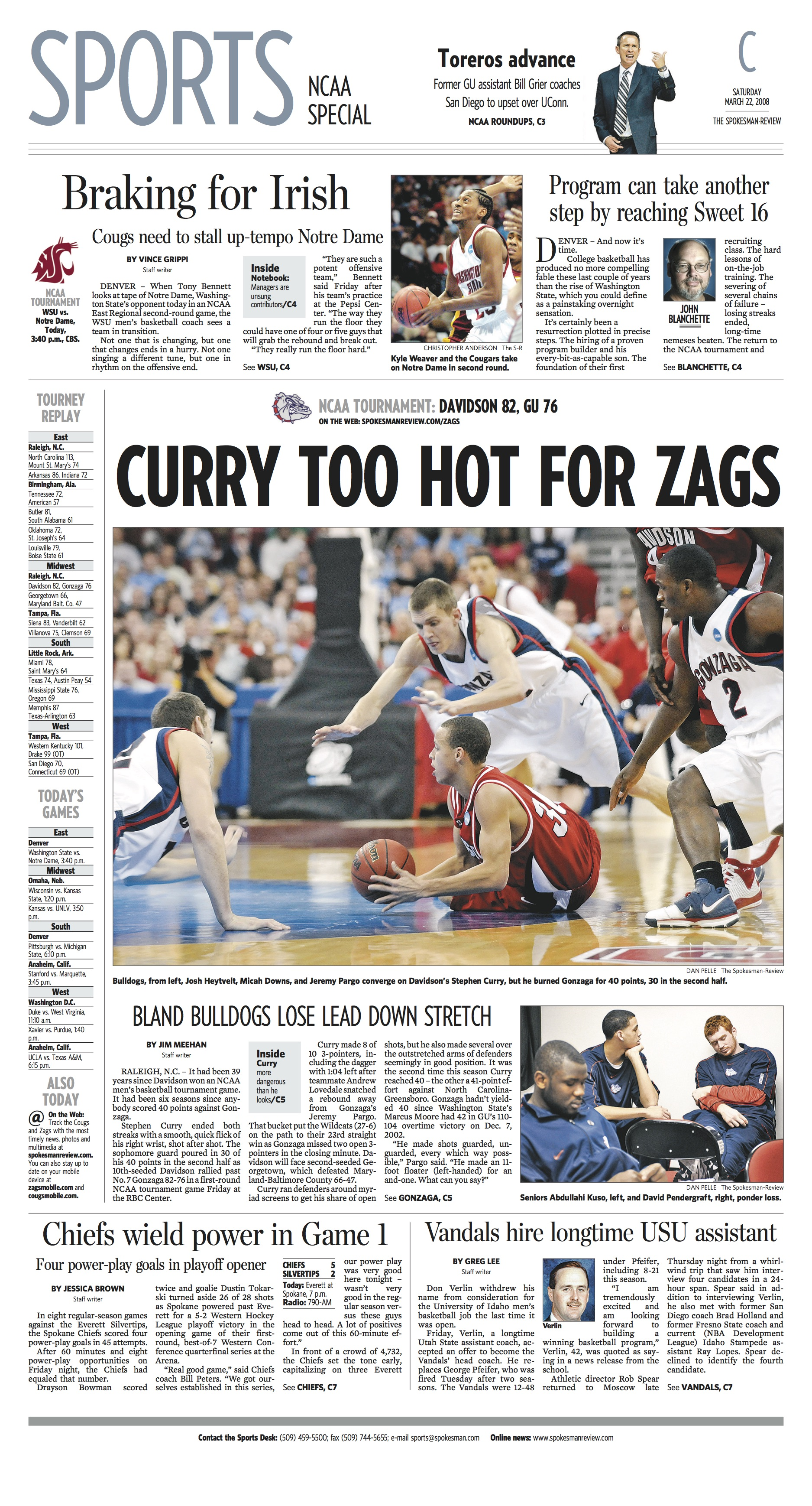 Historic page: Mar. 22, 2008