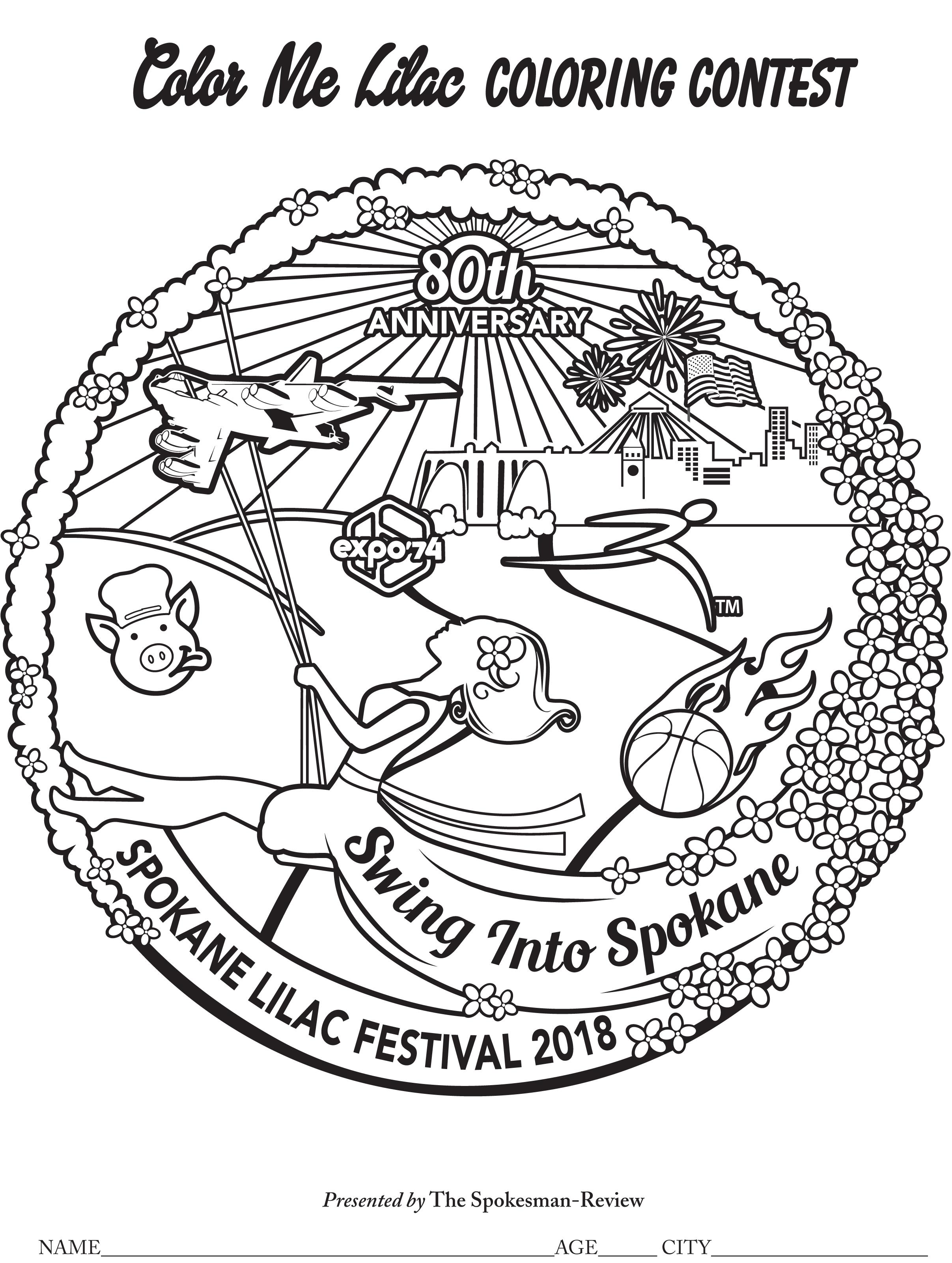 lilac festival coloring contest
