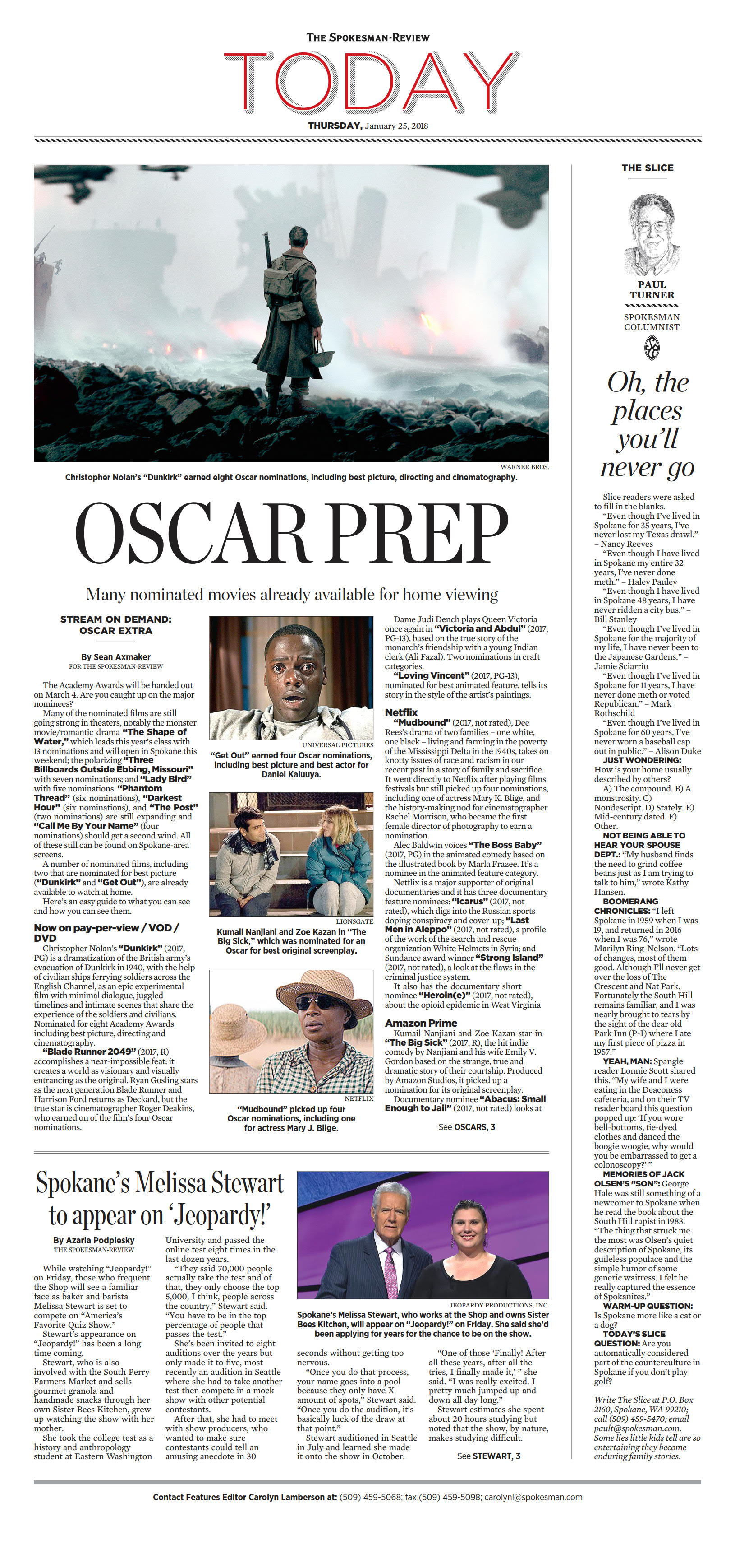 Front page for Jan  25, 2018 | The Spokesman-Review