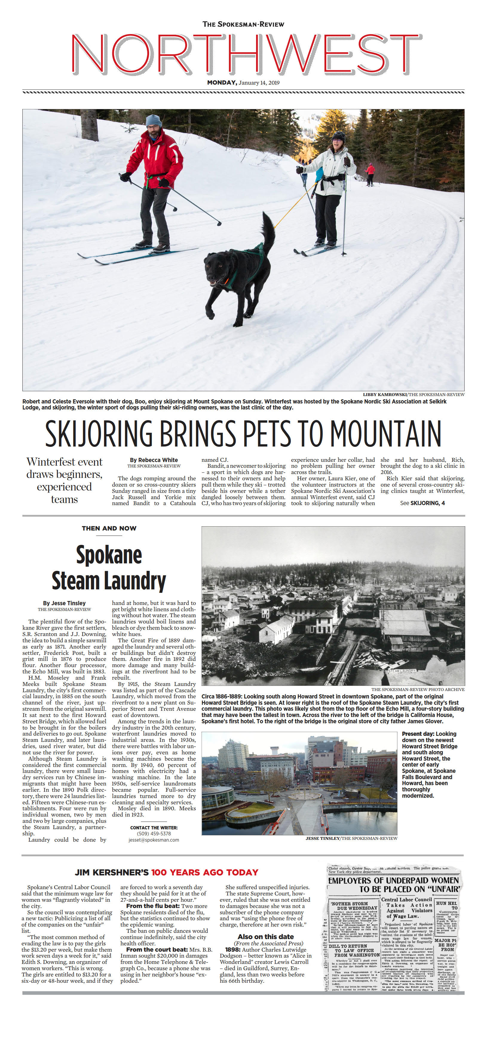 Front page for Jan  14, 2019 | The Spokesman-Review
