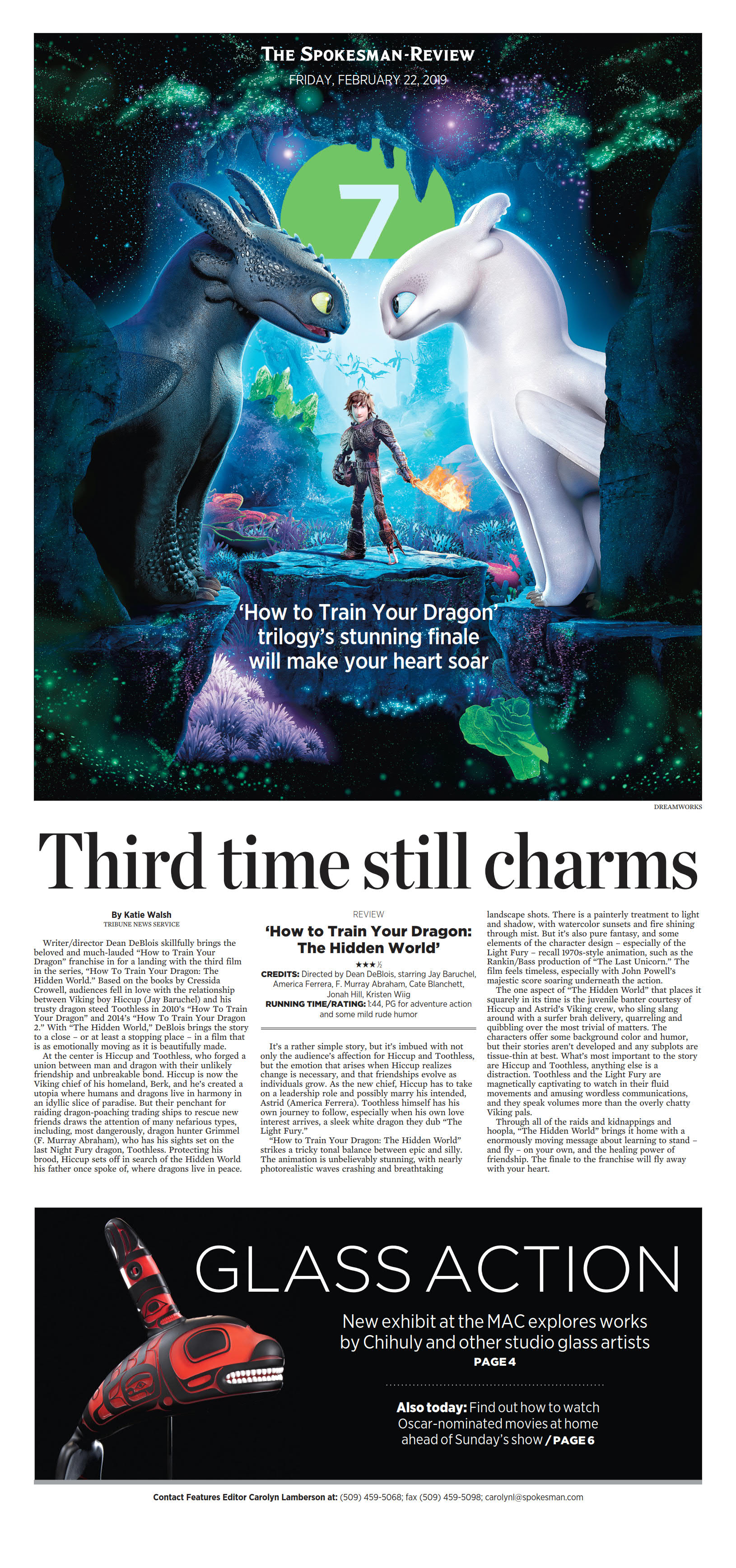 Front page for Feb  22, 2019 | The Spokesman-Review