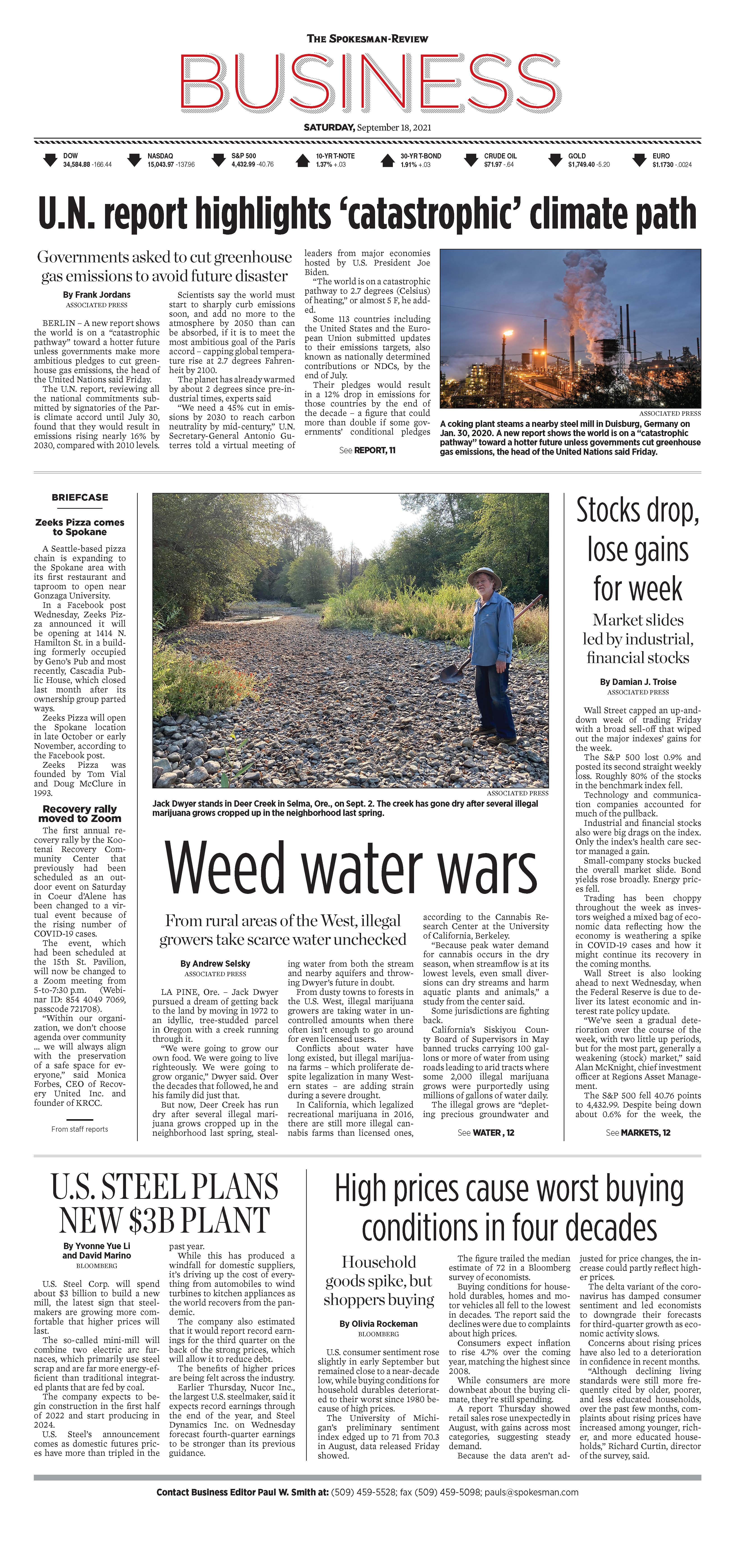 Frontpage for 2021-09-18