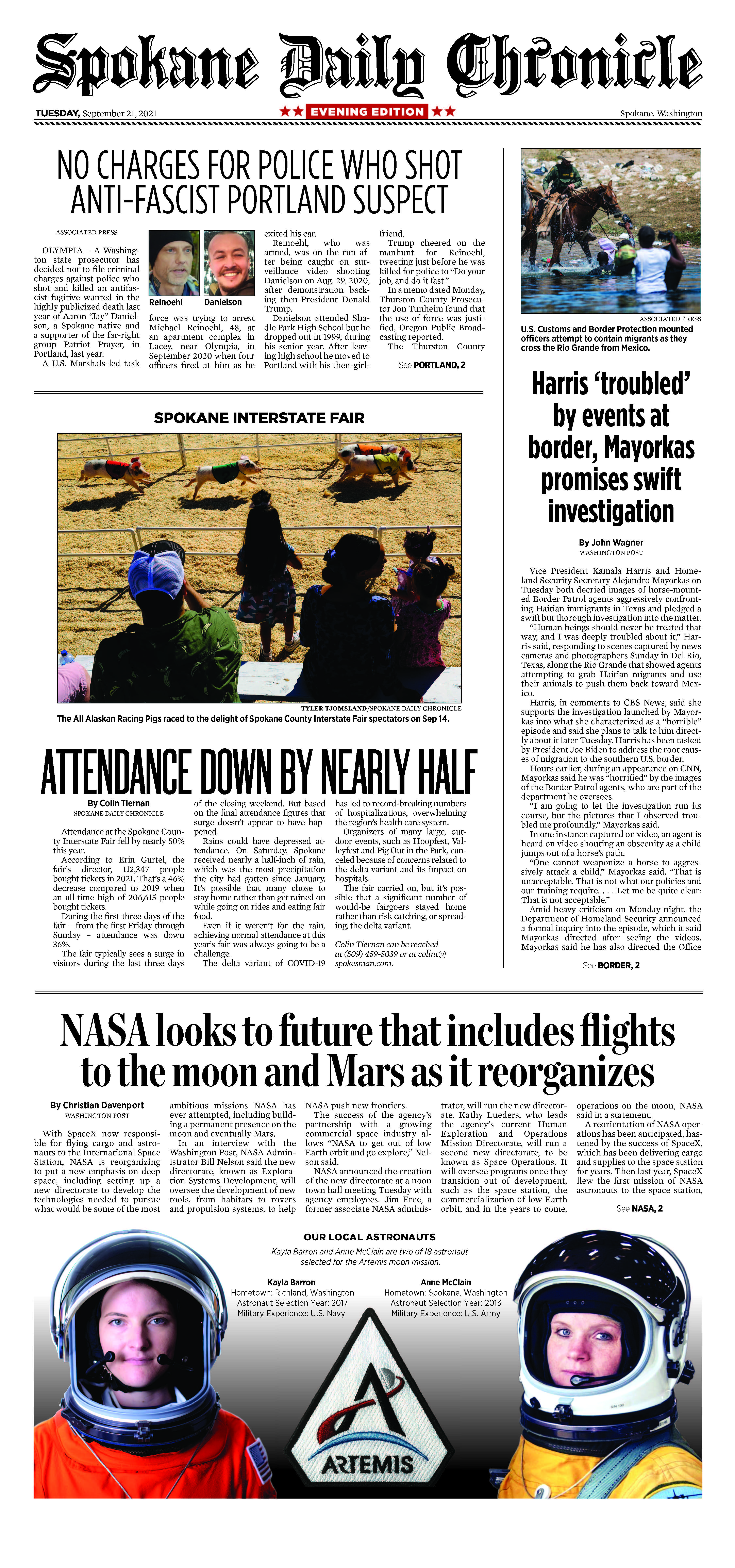 Frontpage for 2021-09-21