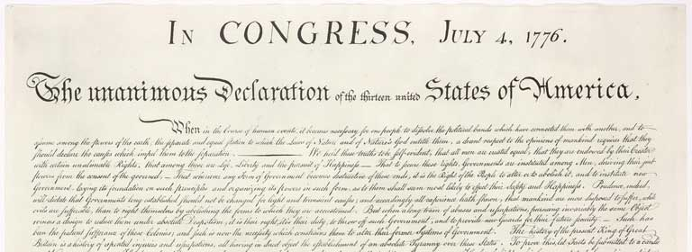 In Congress, July 4 1776