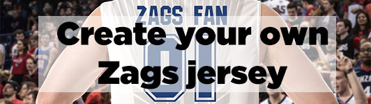 Create your own Zags jersey