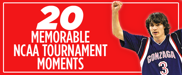 <b>20 for 20:</b> Memorable moments in Zags' NCAA Tournament run