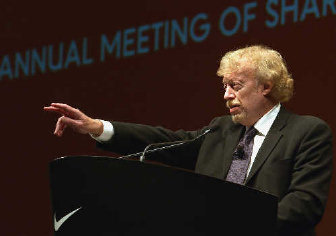 Phil Knight, chairman of Nike, which announced Monday that CEO William D.  Perez