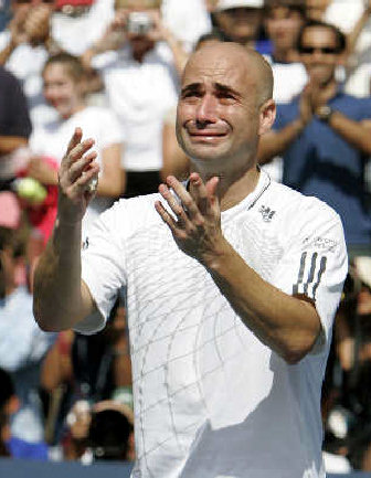 Agassi says an emotional goodbye