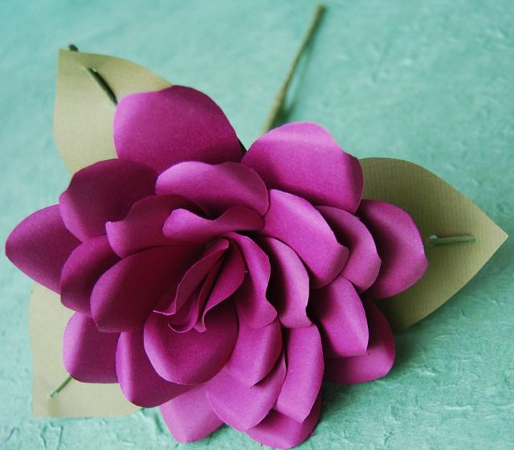 Flower makers share tricks the spokesman review to make the petals for this rose designed by anemone paper flowers cut several teardrop mightylinksfo