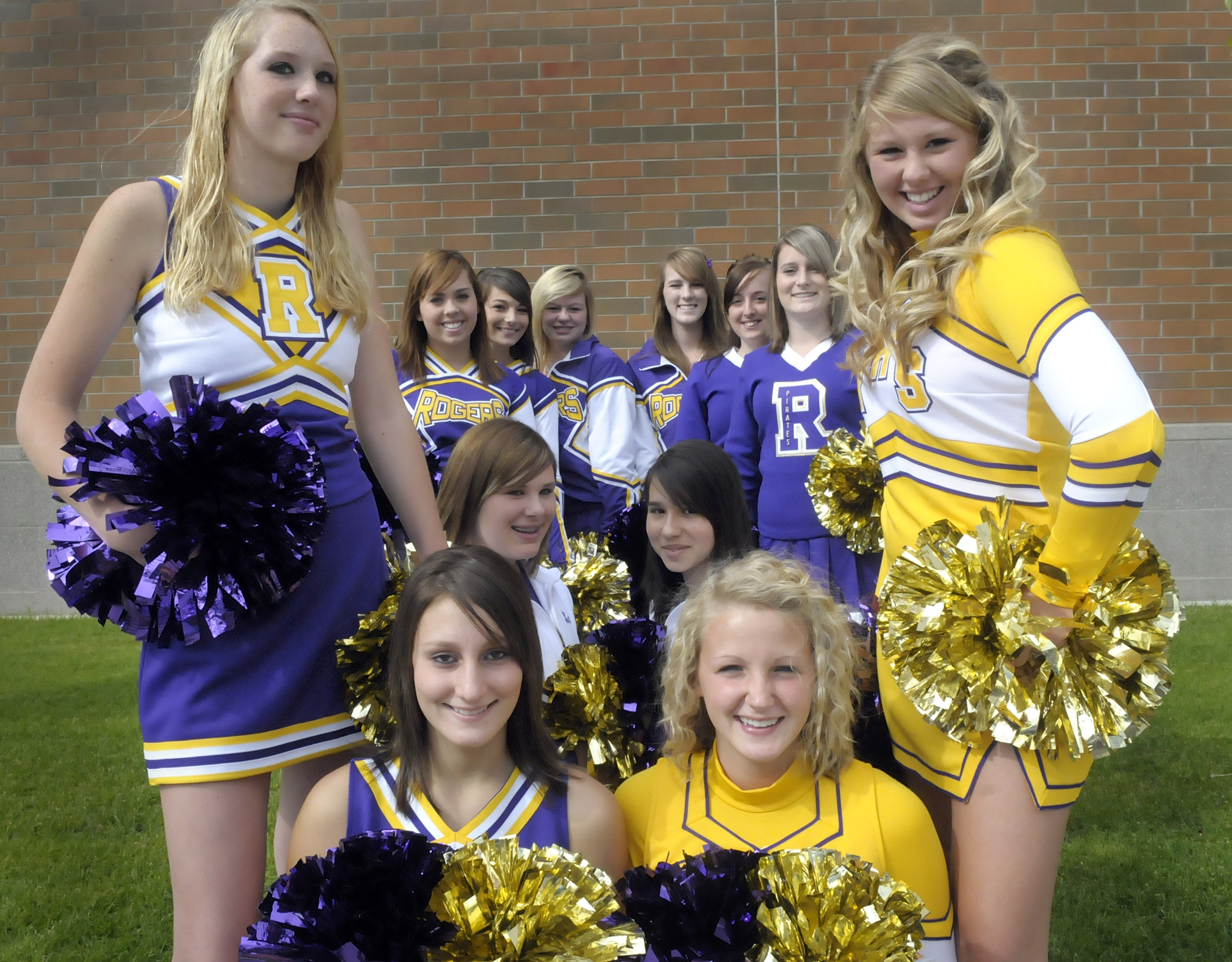 d287dd3fd The Rogers high School cheerleading squad has new uniforms for the upcoming  year. Showing off