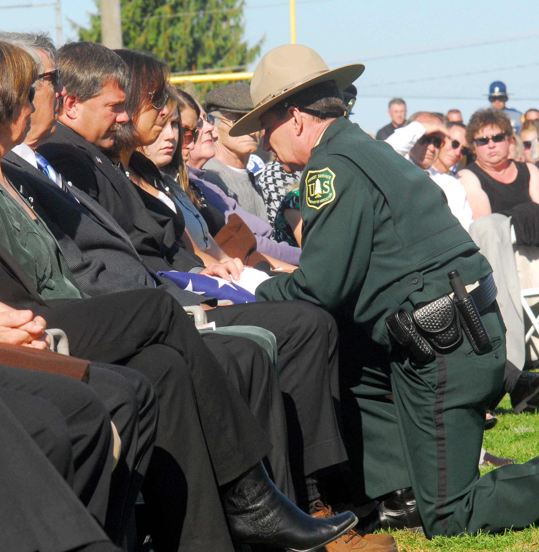 Thousands Mourn Slain Forest Service Officer The