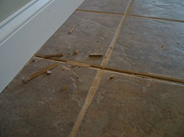 Root Of Failing Floor Grout