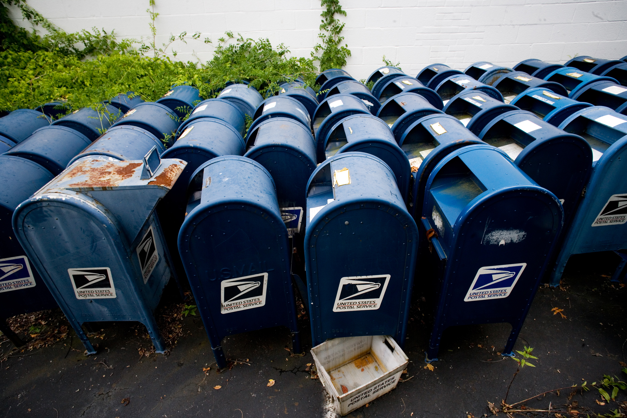 Mailboxes sit in storage at a U.S. Postal Service mailbox graveyard in Hyattsville Md. & Cash-strapped Post Office pulling collection boxes | The Spokesman ...