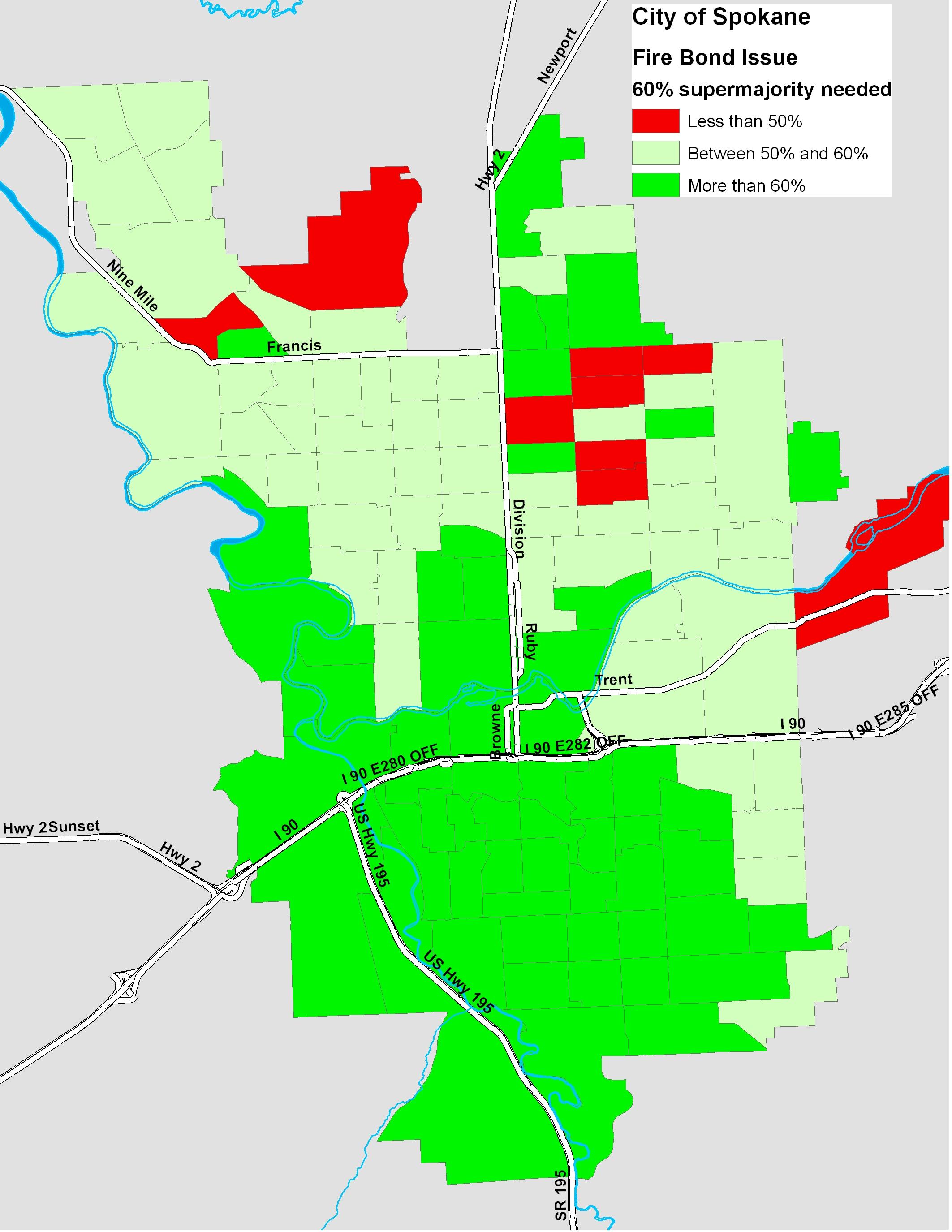 A New Map For Spokane Fire Bond The Spokesman Review