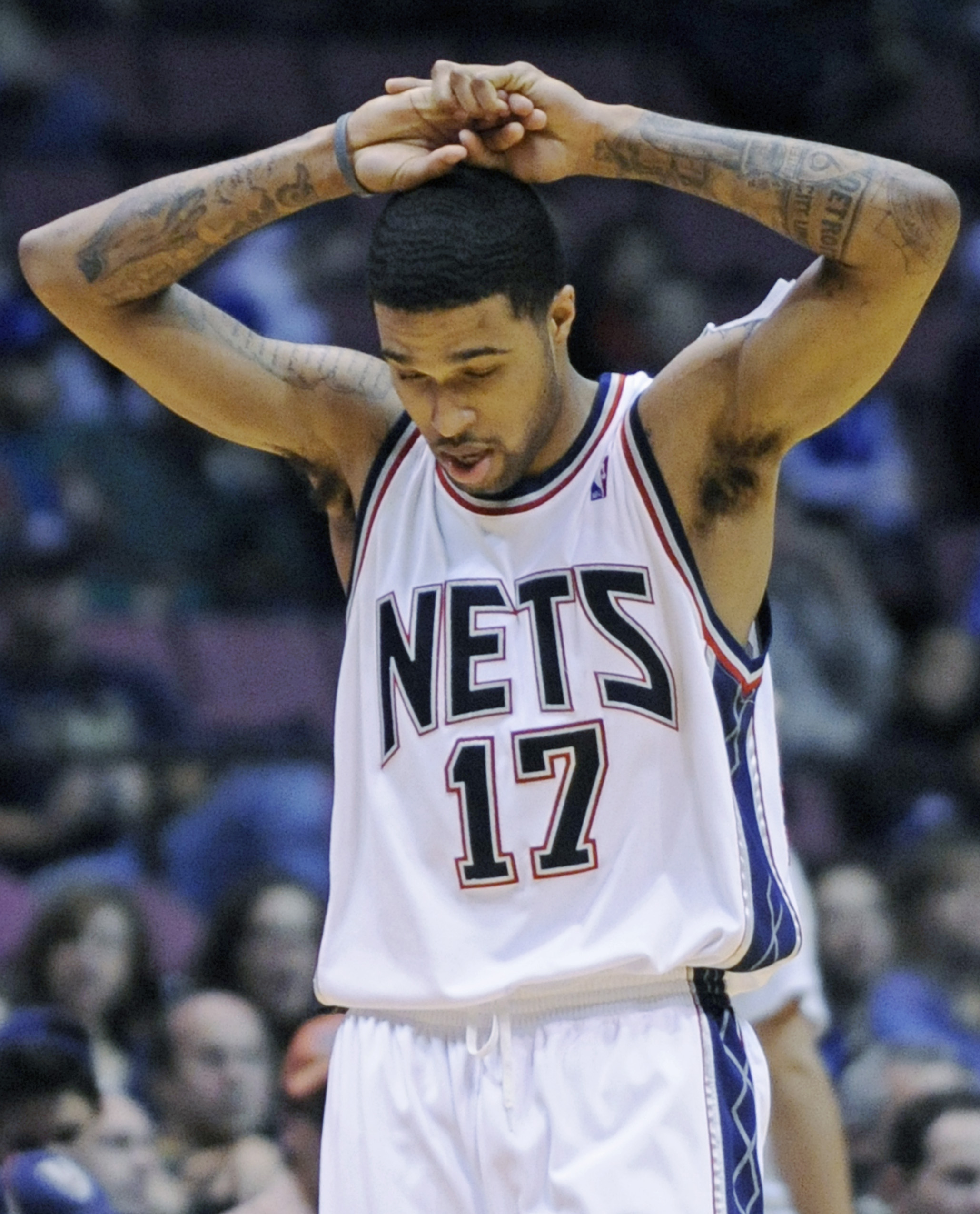 New Jersey s Chris Douglas-Roberts reacts to the Nets  record 18th  consecutive loss to 0efd40e86