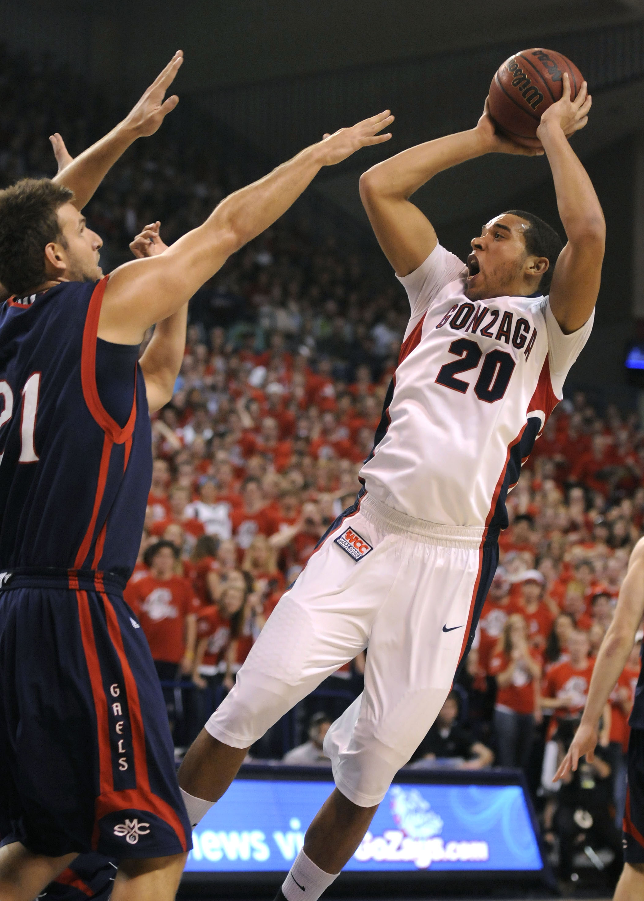 Elias Harris is Gonzaga's No. 2 scorer at 14.7 points per game. (File