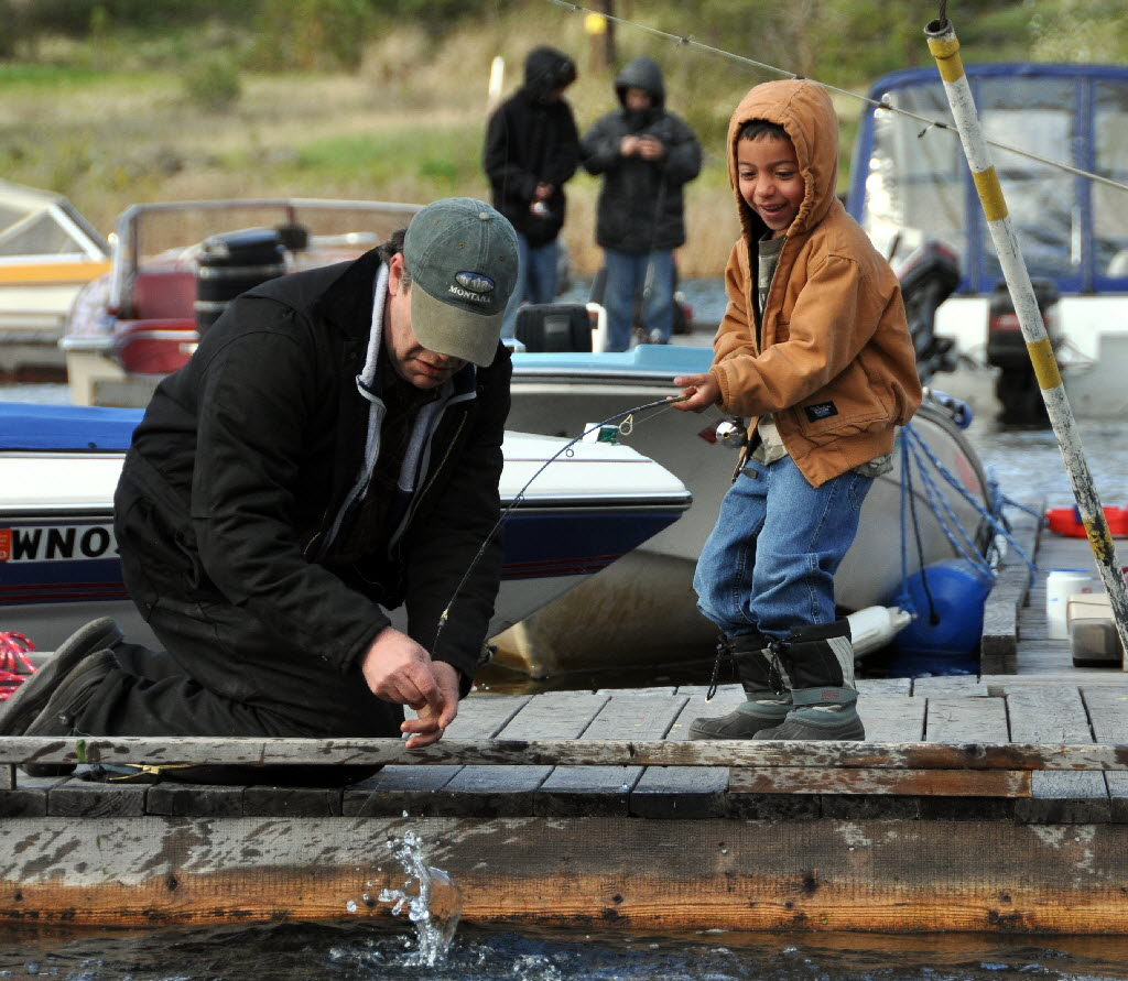 Opening day draws fishing fans young and old the for Fishing season washington