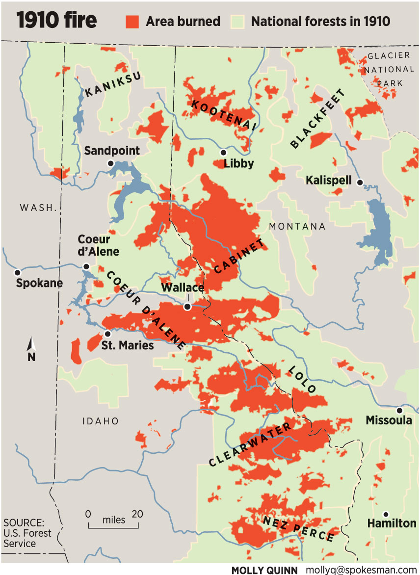 Spokane Wildfire Map.Forest Fire The Largest In U S History Left Stories Of Awe