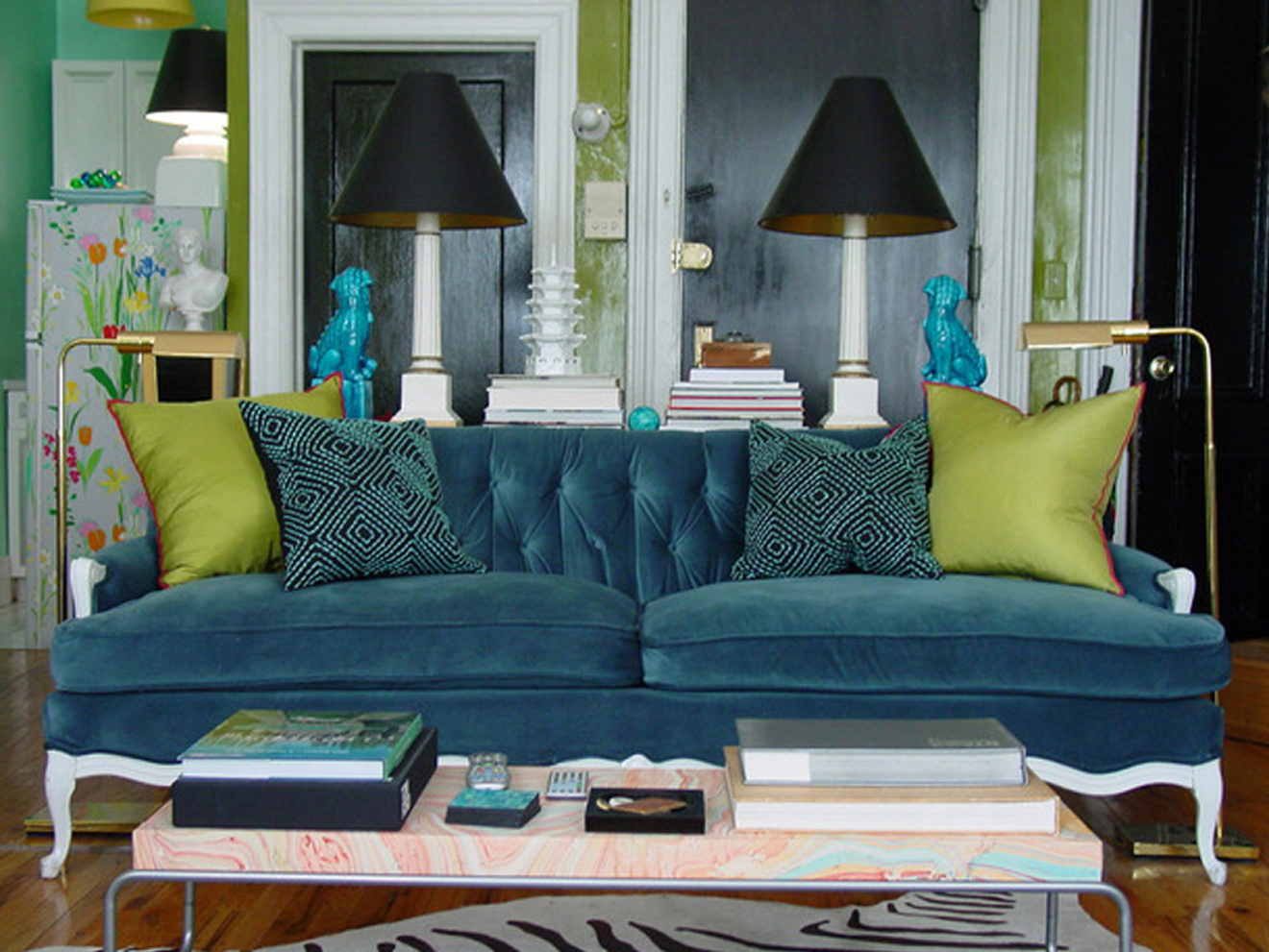 Peacock Color Living Room Color Furniture Placement Can Make Boxy Rooms Seem Larger The