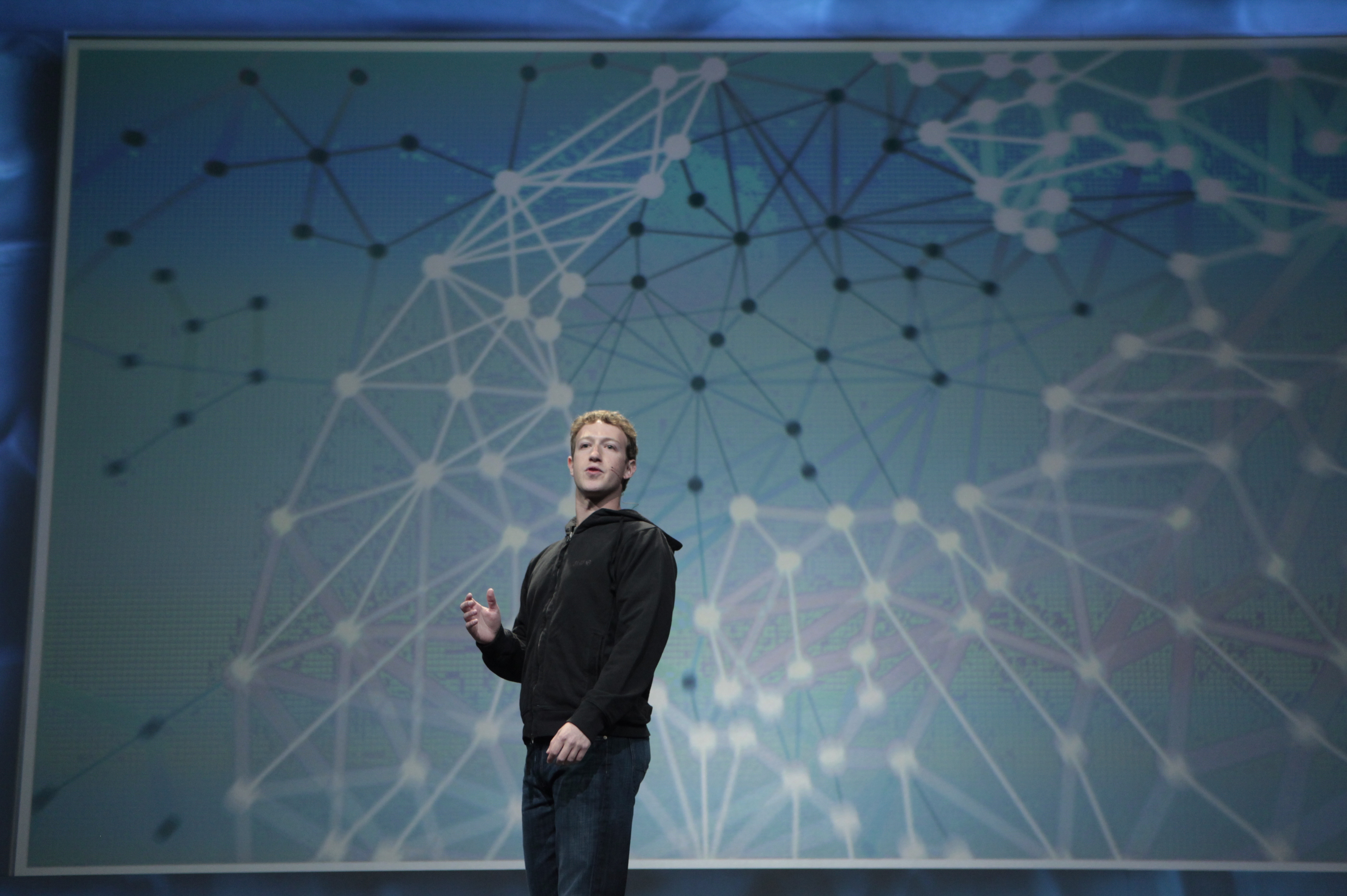 d556862ef7d9 Facebook CEO Mark Zuckerberg delivers a keynote address at a conference in  San Francisco. Zuckerberg