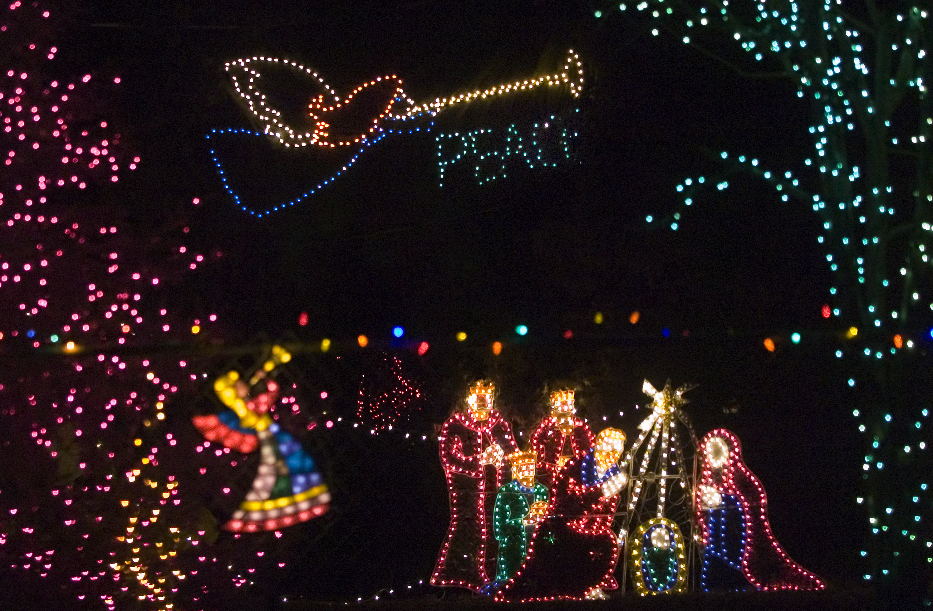 A Nativity and angels were seen in Spokane Valley in 2006. (FILE) & Readers recommend holiday lights across town | The Spokesman-Review