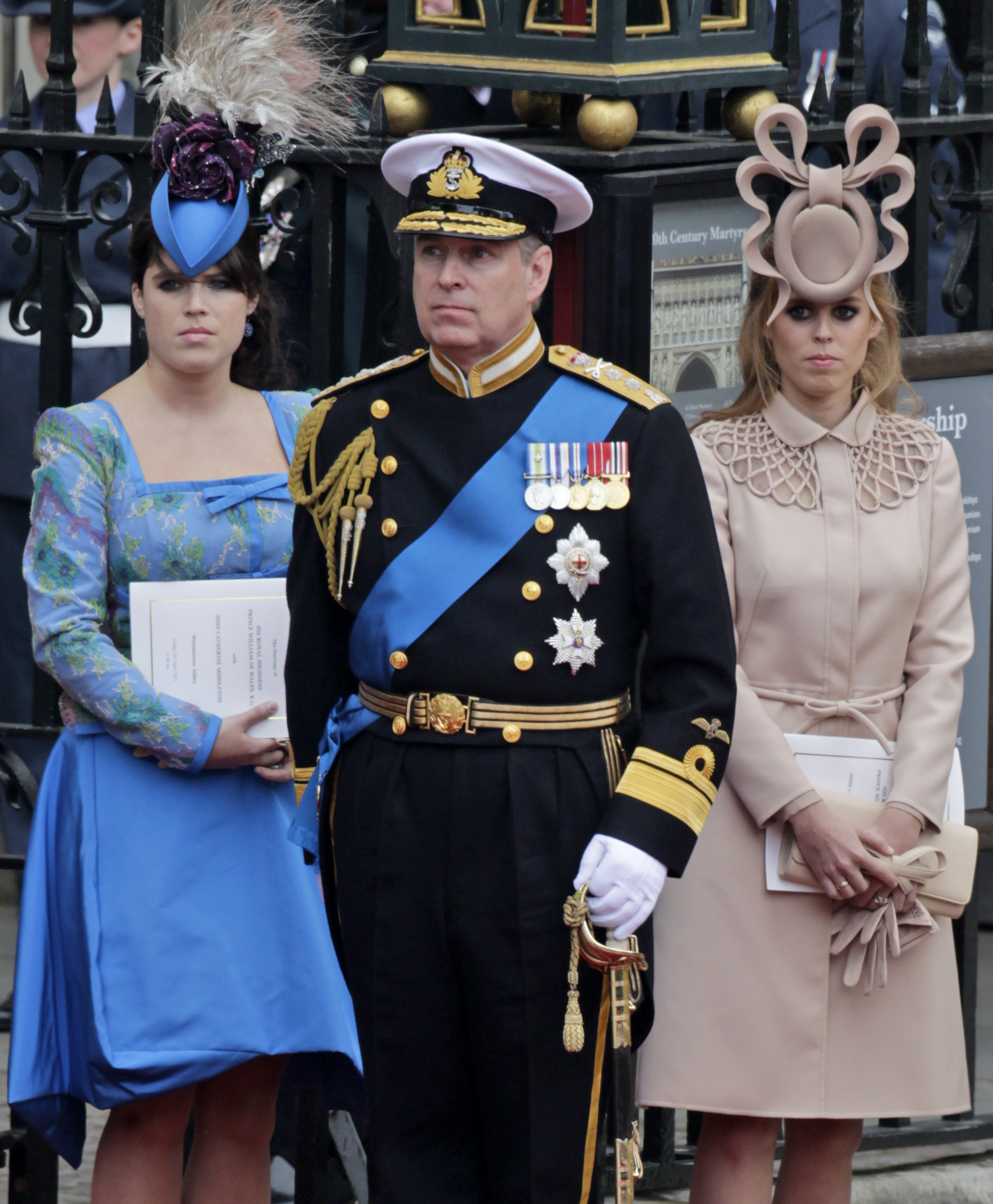 Princess Beatrice wears a Philip Treacy hat at the royal wedding in London  on April 29 cf1e8e20053