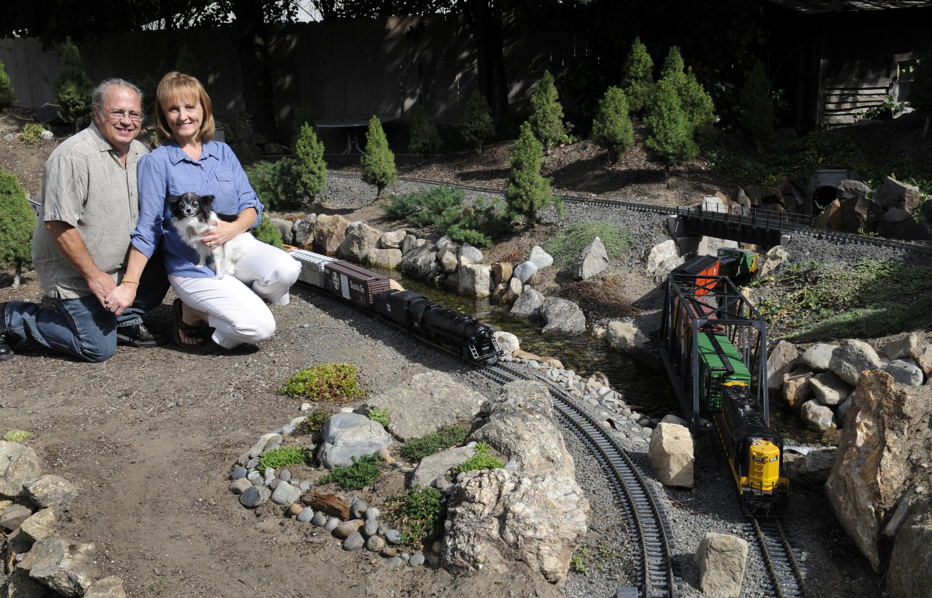 imaginative gardeners build tracks through backyards the