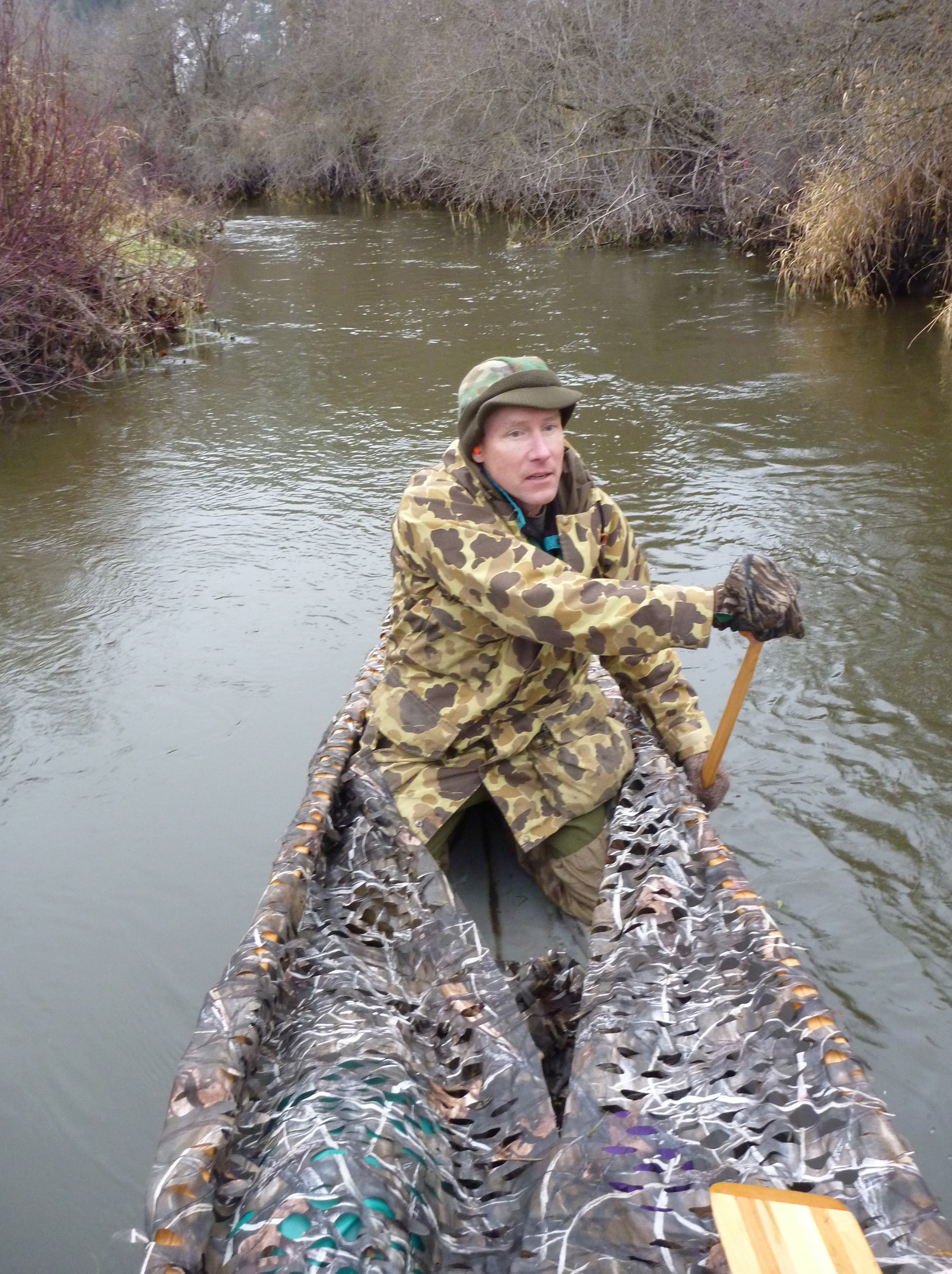 blind boat duck hunting canoe blinds camo pedal camopedalboat