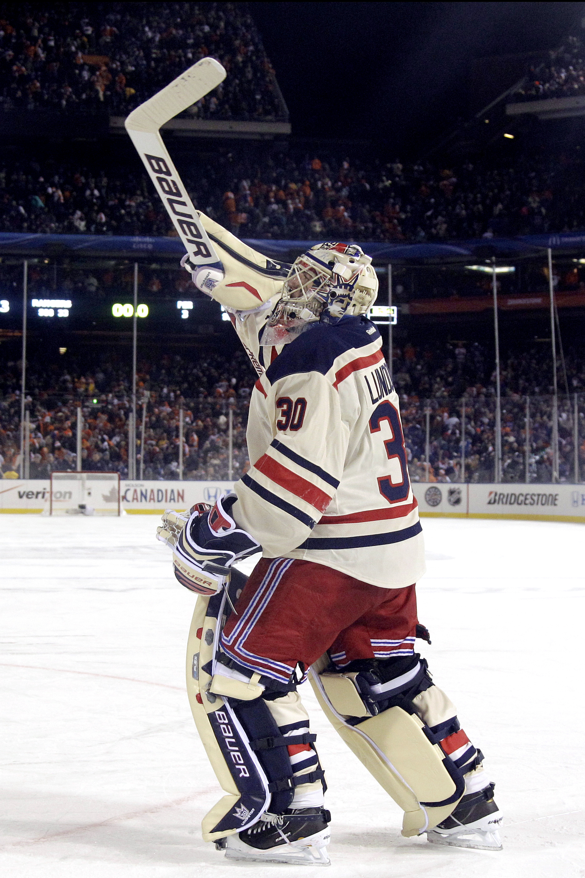 a8bb4faf0 Netminder Henrik Lundqvist helped the Rangers to a Classic win. (Associated  Press)
