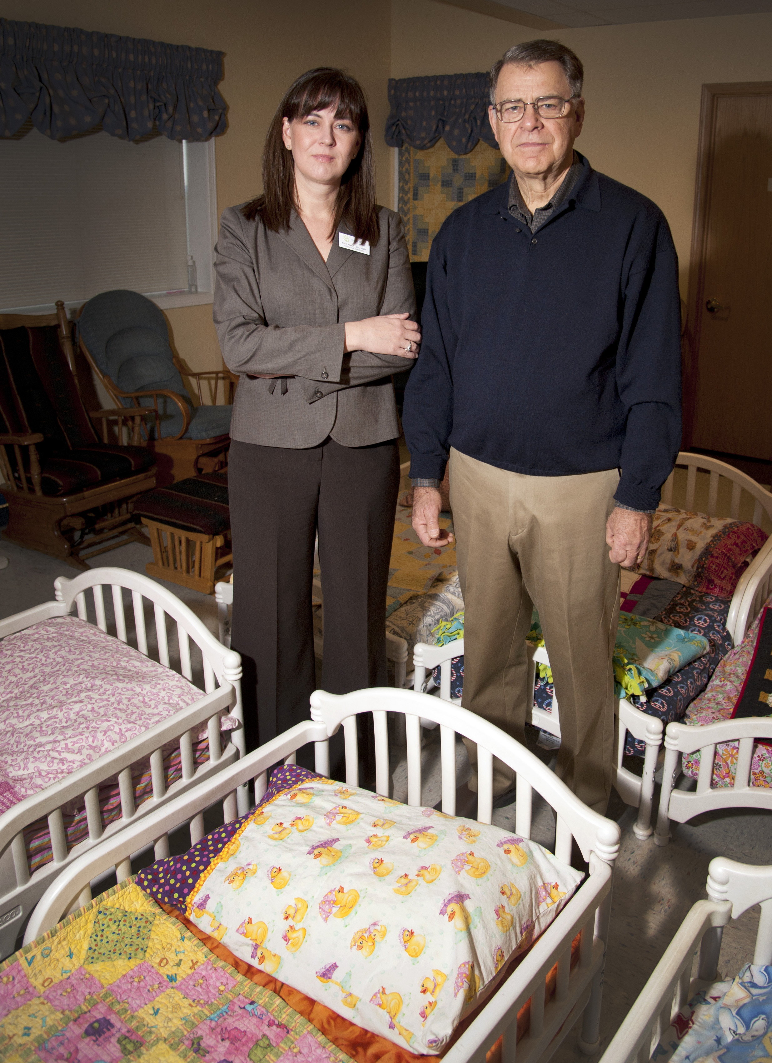 Amy Knapton Executive Director Of The Vanessa Behan Crisis Nursery And Founder Bill Bialkowsky