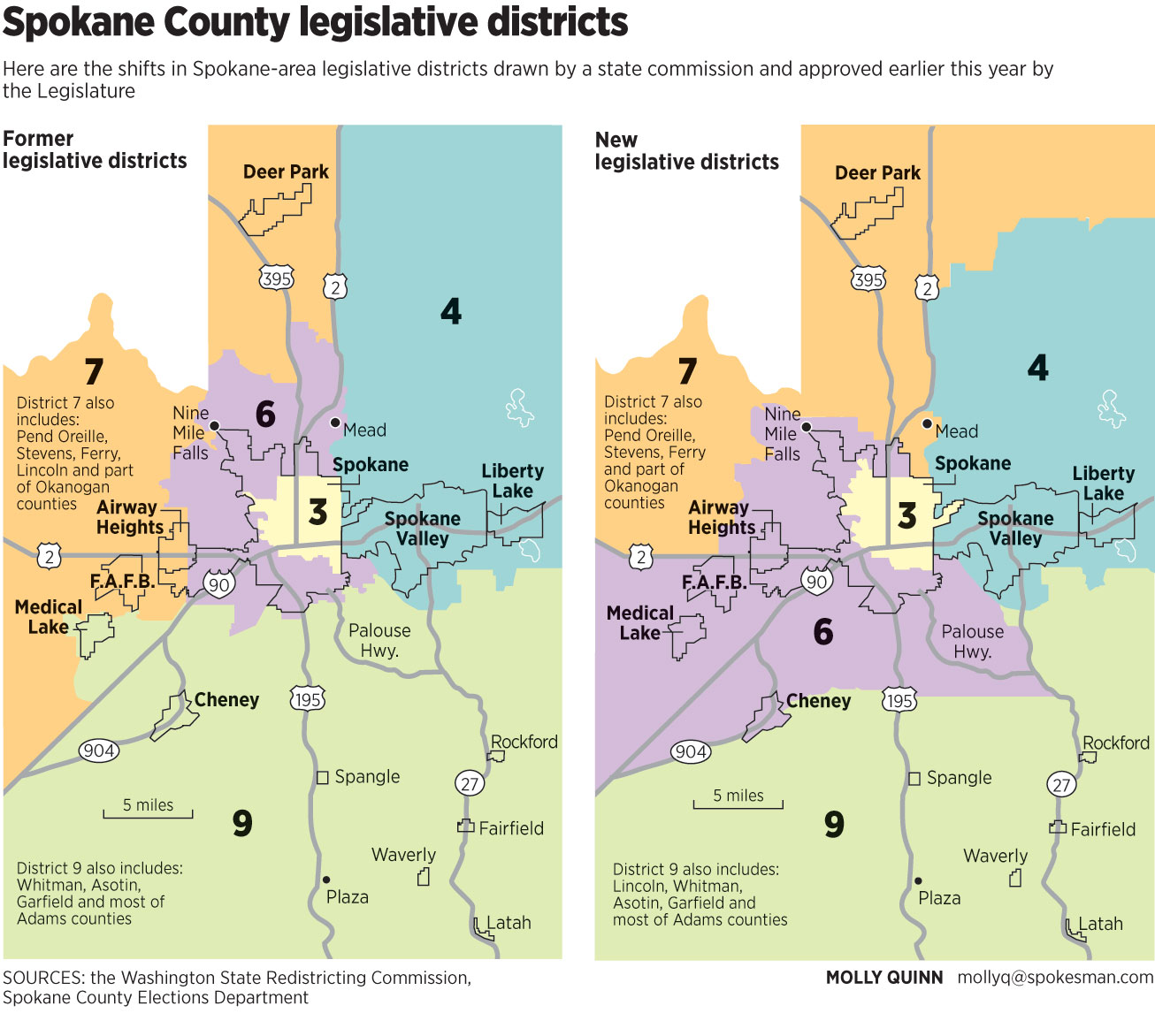 Shifts In Spokane Area Legislative Districts Drawn By A State Commission And Approved Earlier This