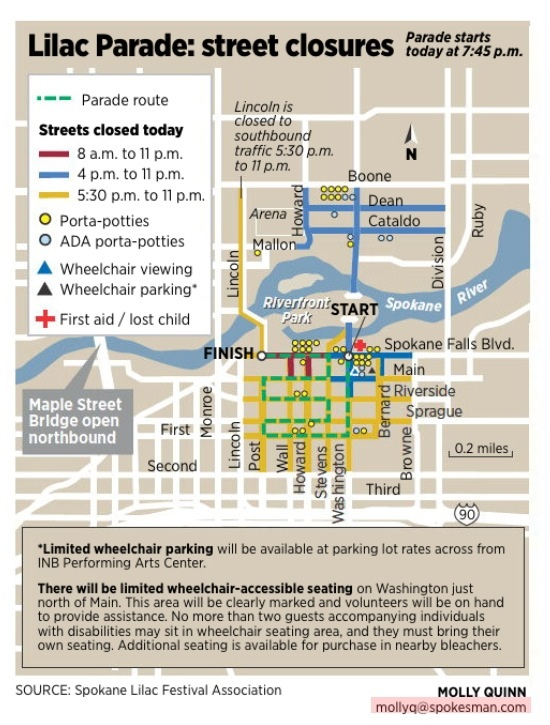 Parade street closures