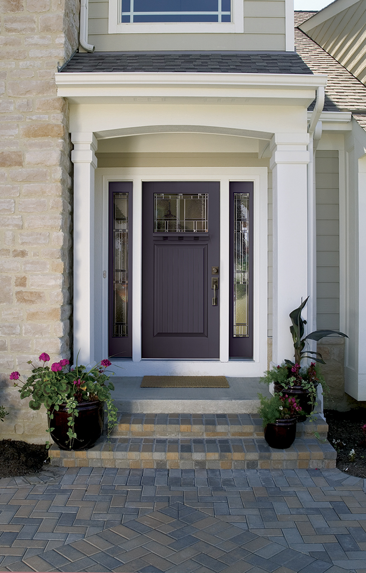 Bold Colors Such As This Plum Are Becoming Increasingly Por Options For Front Doors