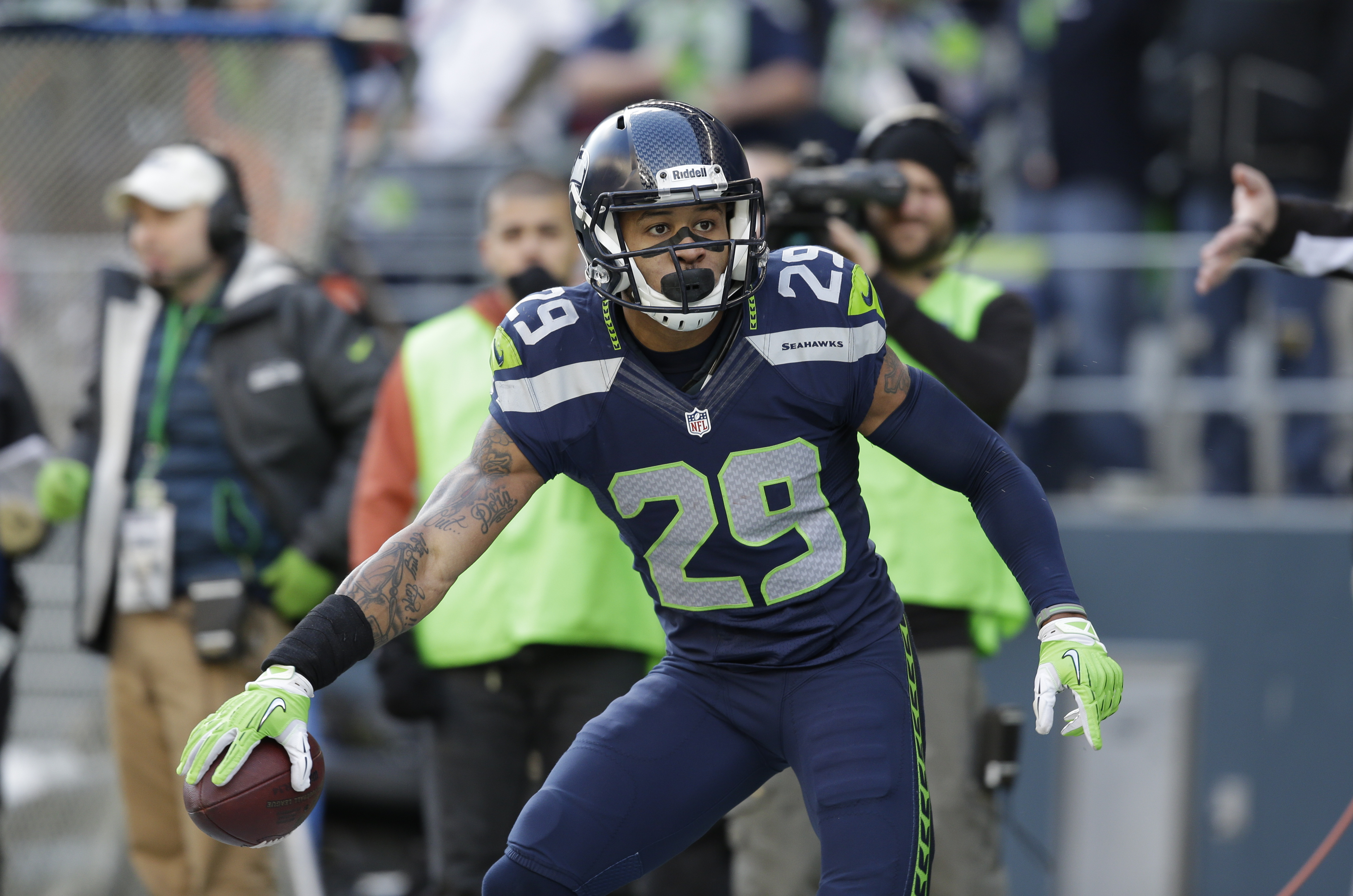 Seattle Seahawks Free Safety Earl Thomas Has Five Interceptions And A Career High 105 Tackles
