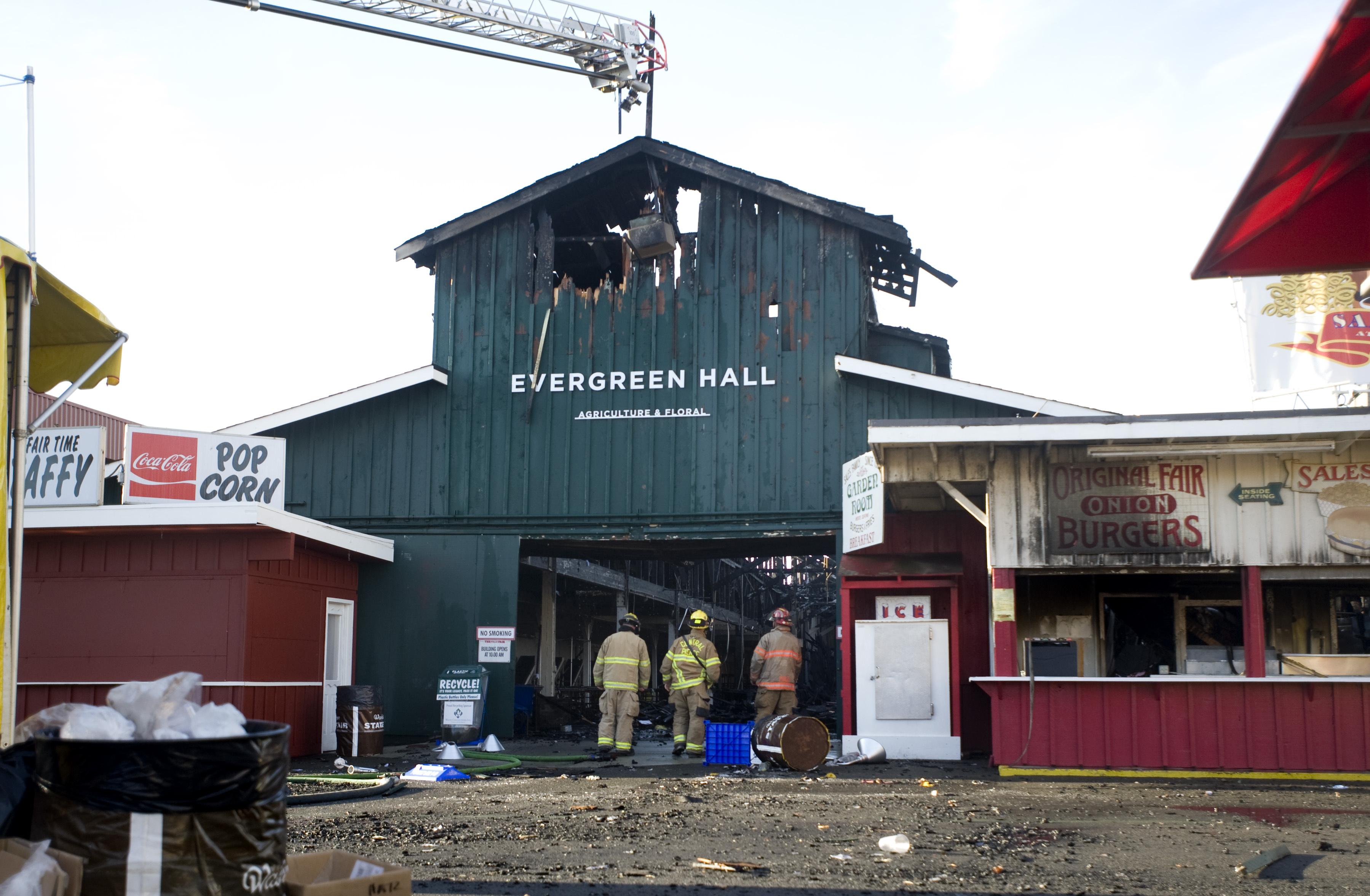 Puyallup Fairgrounds Building Burns Hours After Fair