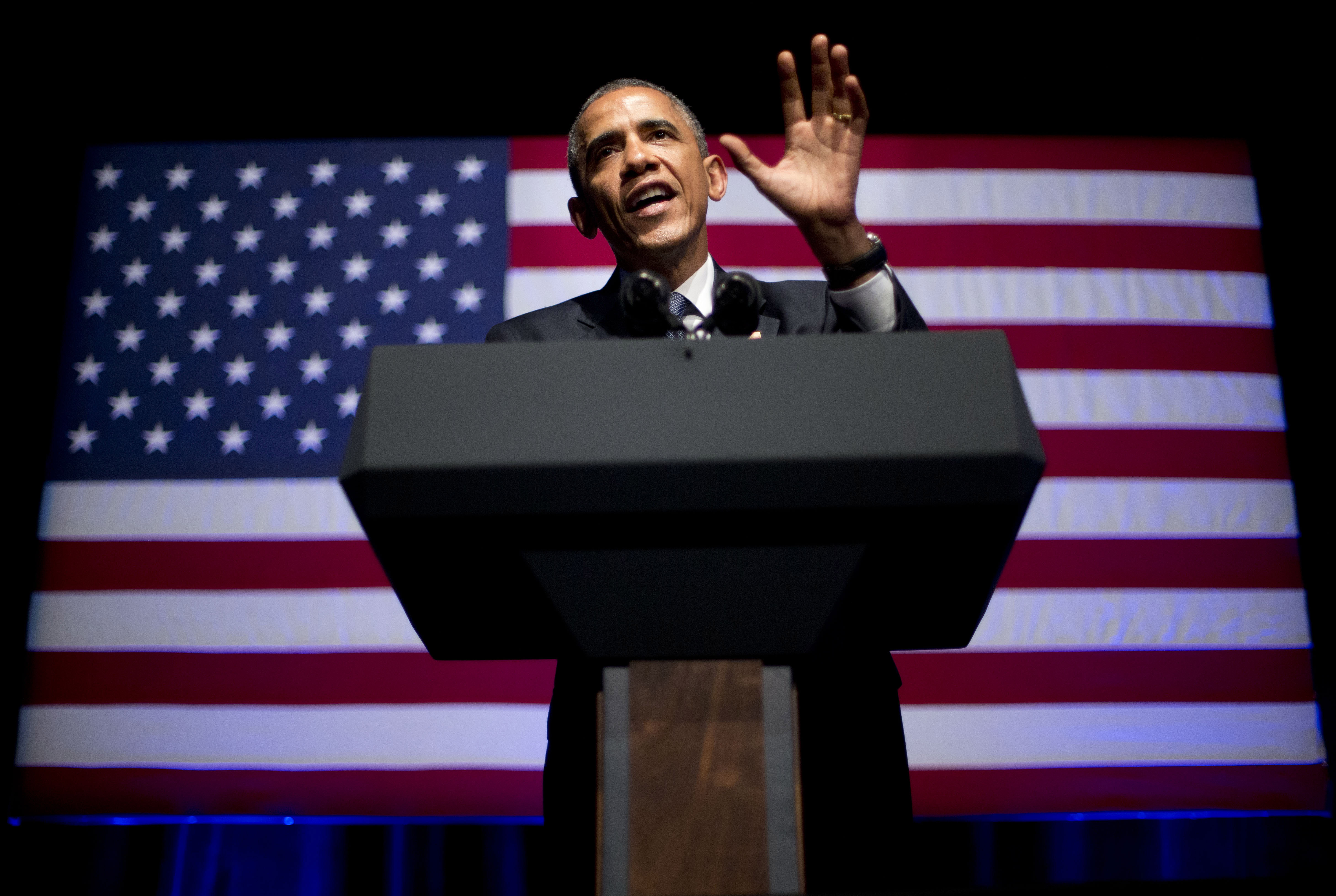 President Barack Obama speaks at the Democratic National Committee's annual  Lesbian, Gay, Bisexual and