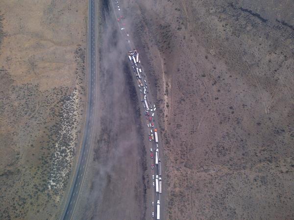 Multiple-vehicle crash closes I-90 west of Vantage   The Spokesman