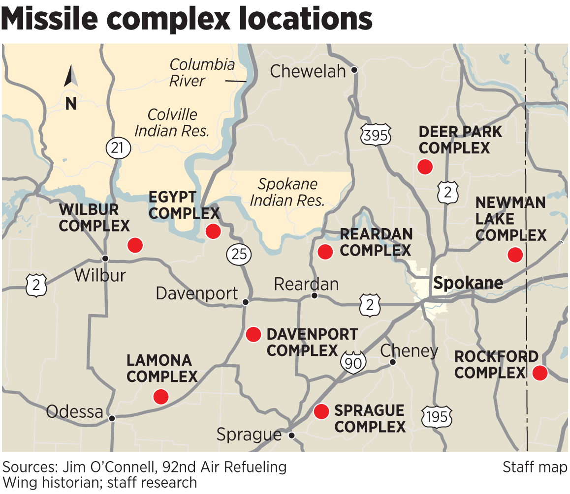 Buried Treasures The SpokesmanReview - Us missile silos map