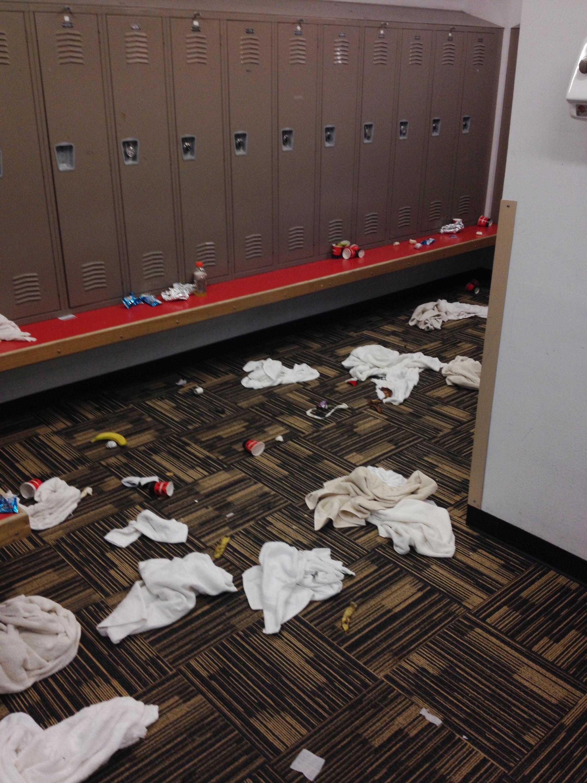 Visiting team trashes Idaho locker room