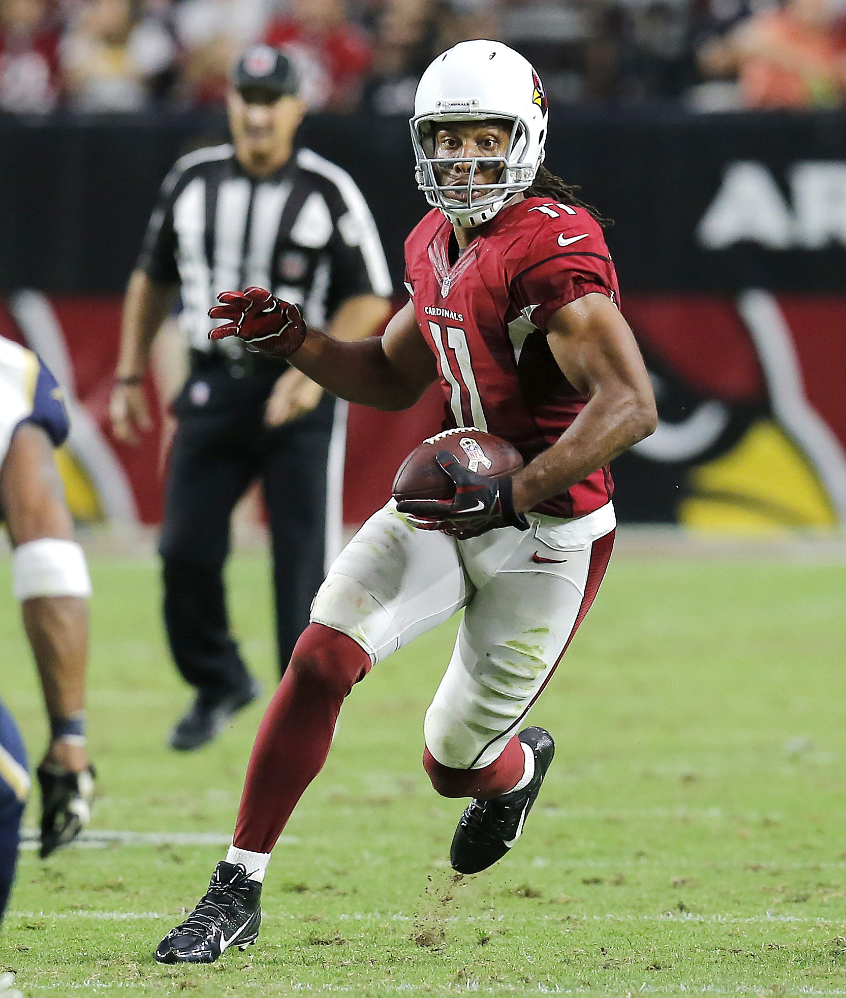 Cardinals Larry Fitzgerald a game time decision against Hawks