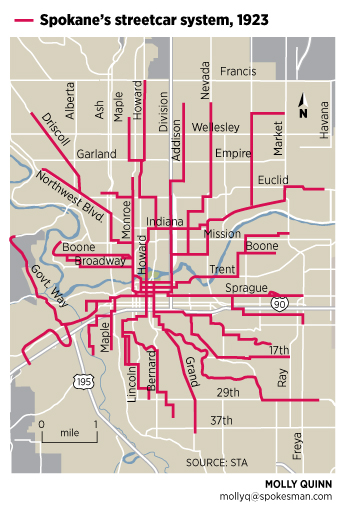 Do you live along an old streetcar route The SpokesmanReview