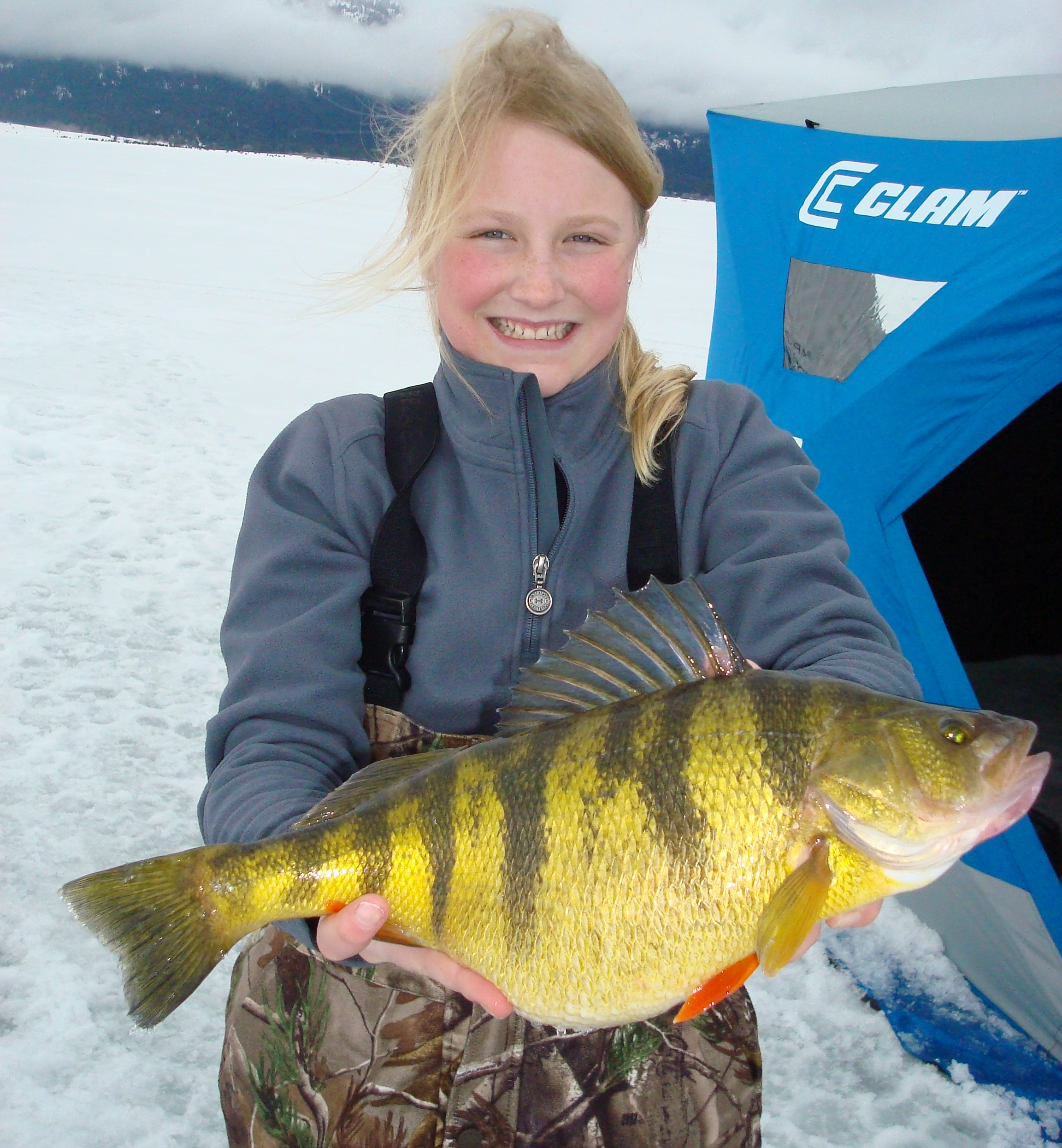 idaho girl 39 s perch declared ice fishing world record the