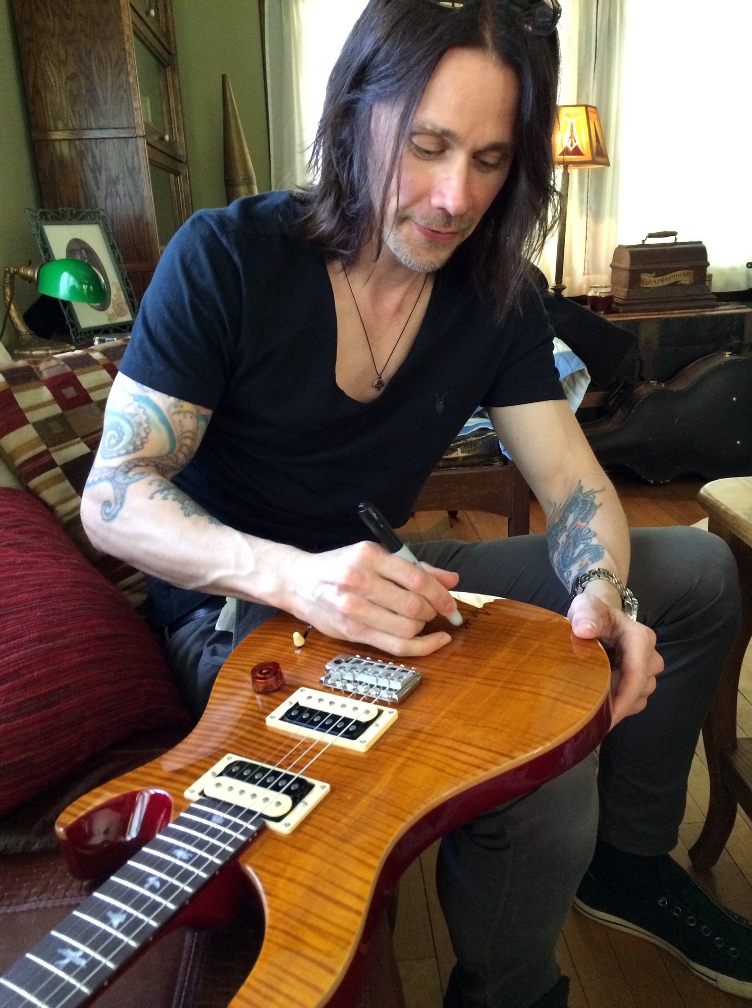 Homegrown Rocker Myles Kennedy Donated An Autographed Paul Reed Smith Electric Guitar On Behalf Of Street