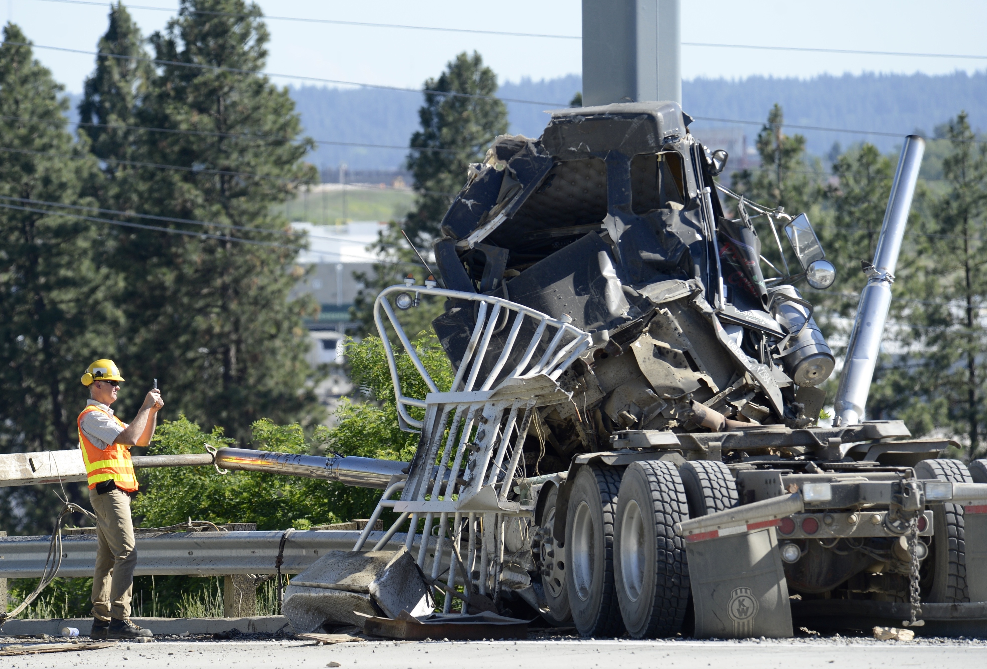 Logging truck crashes on U.S. Highway 395 | The Spokesman ...