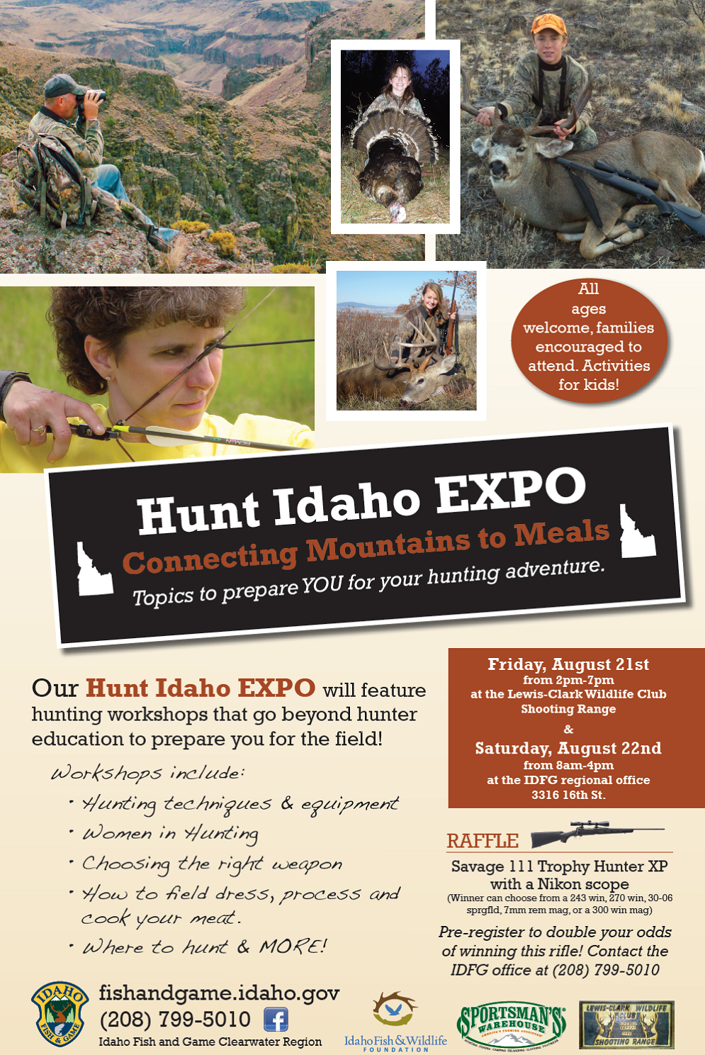Idaho expo geared to hunting novice through advanced for Hunting and fishing expo