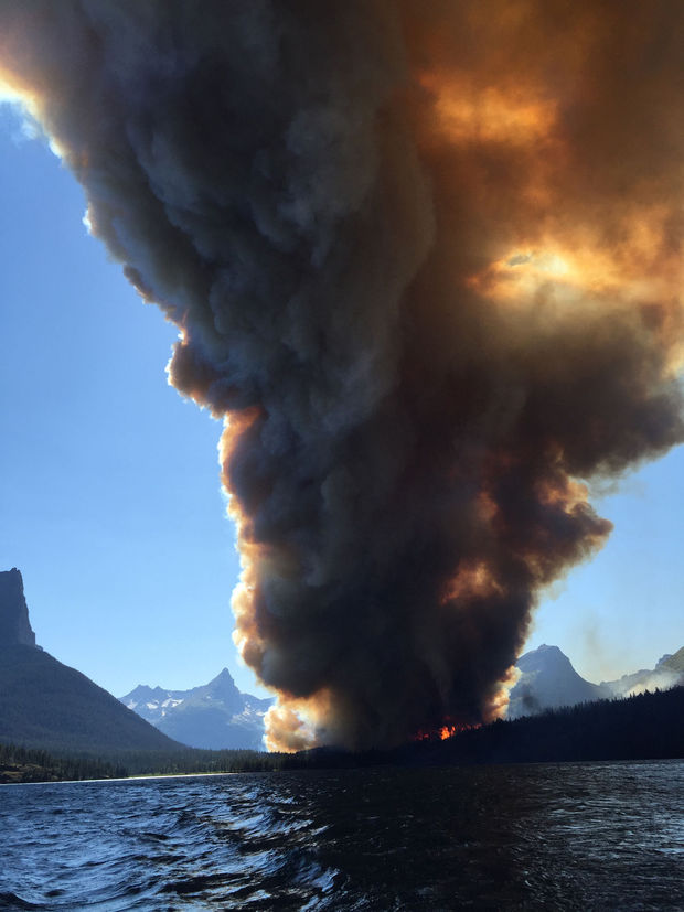 Glacier National Park Wildfire Destroys Historic Cabin
