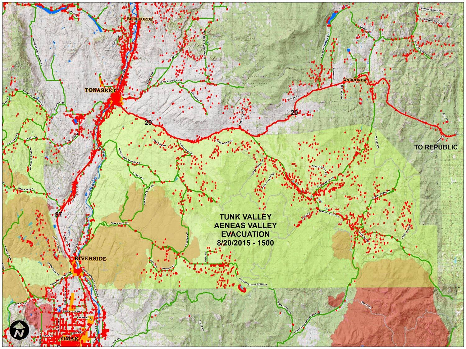 Spokane Wildfire Map.Tonasket Residents Warned To Evacuate Immediately The Spokesman